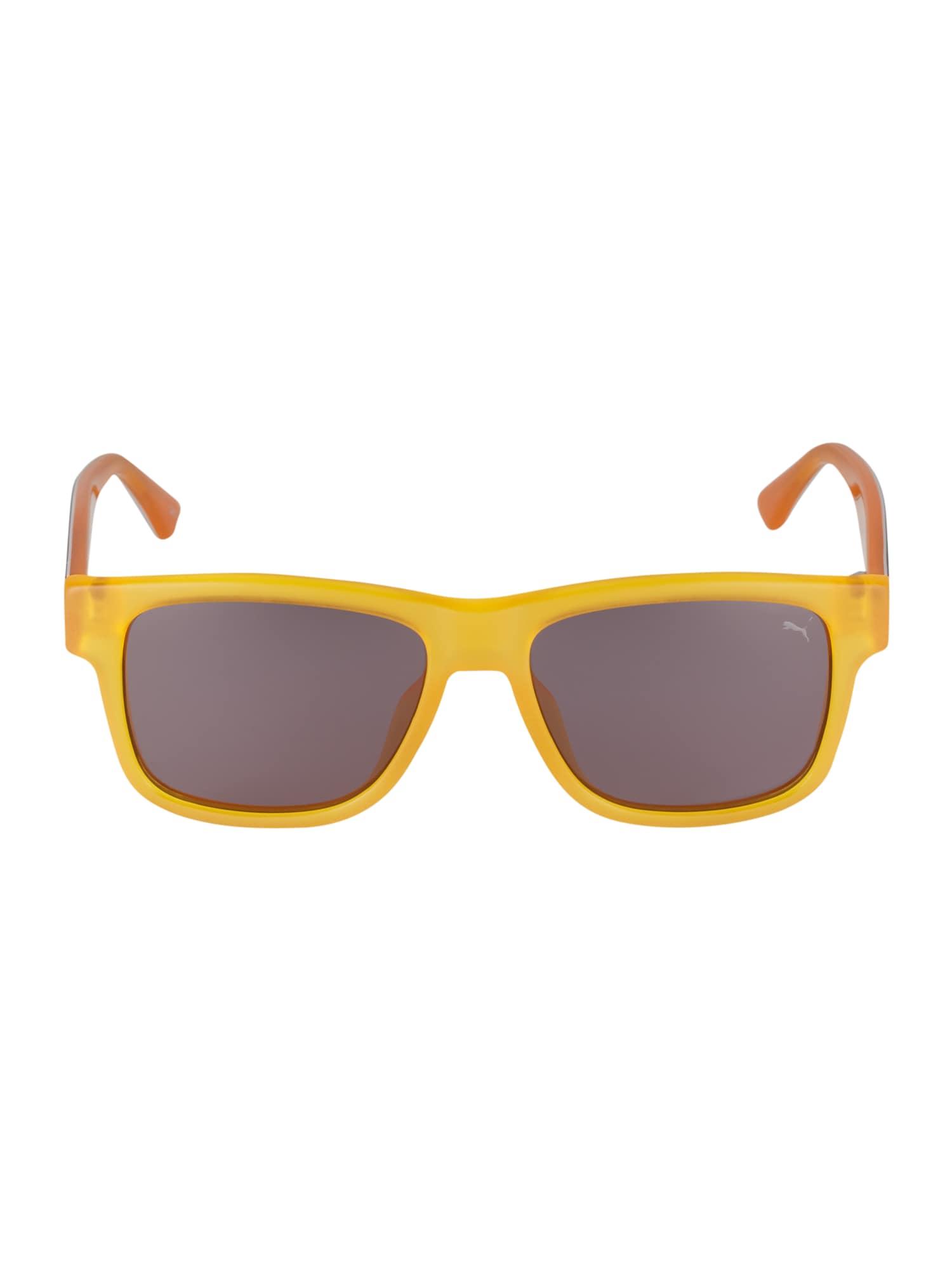 PUMA Slnečné okuliare 'PJ0001S KID INJECTION'  sivá / žlté / čierna