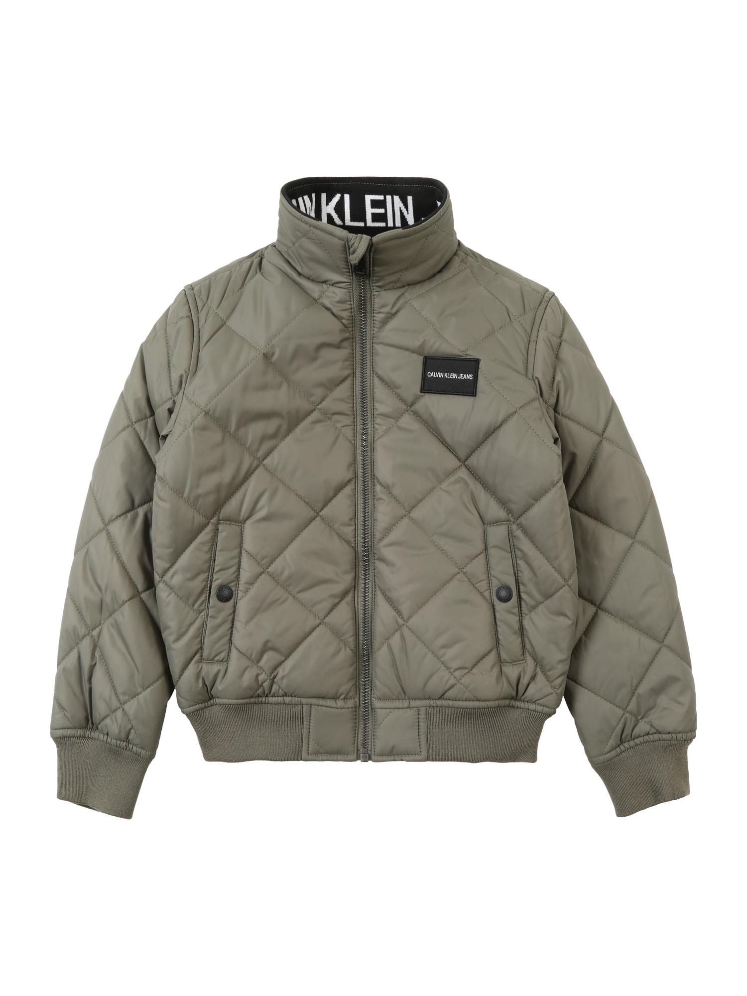 Přechodná bunda olivová Calvin Klein Jeans
