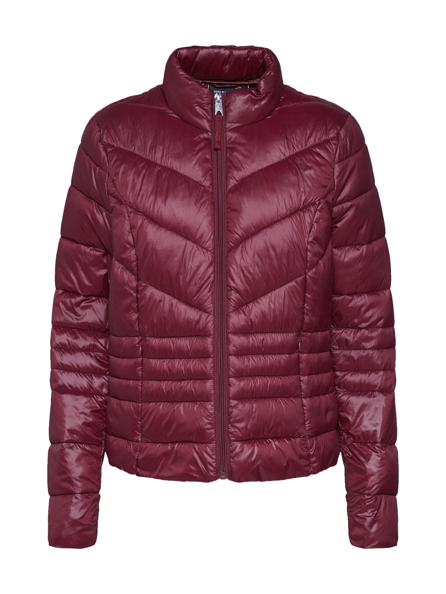 Zimní bunda SORAYA SIV vínově červená VERO MODA