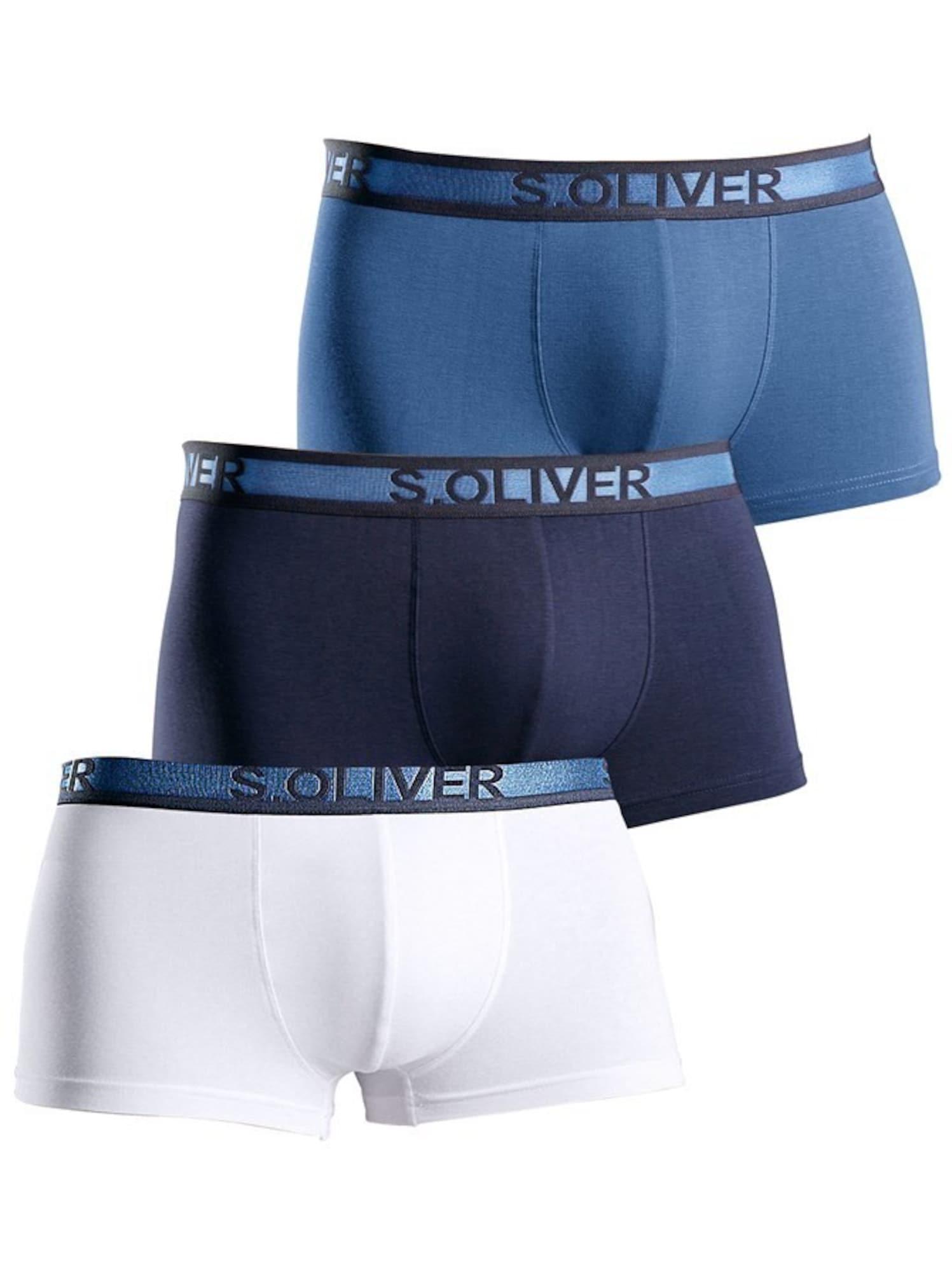 Boxerky marine modrá noční modrá bílá S.Oliver RED LABEL