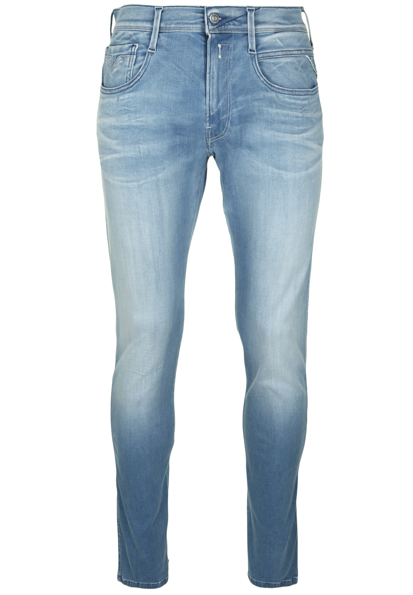 REPLAY Heren Jeans ANBASS LIGHT WASHED blue denim