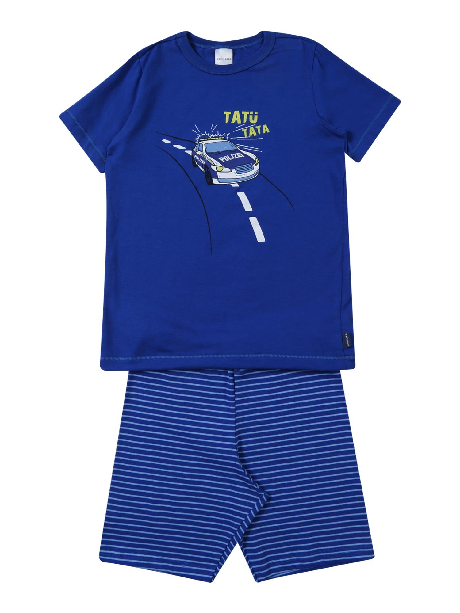 Pyžamo modrá mix barev SCHIESSER