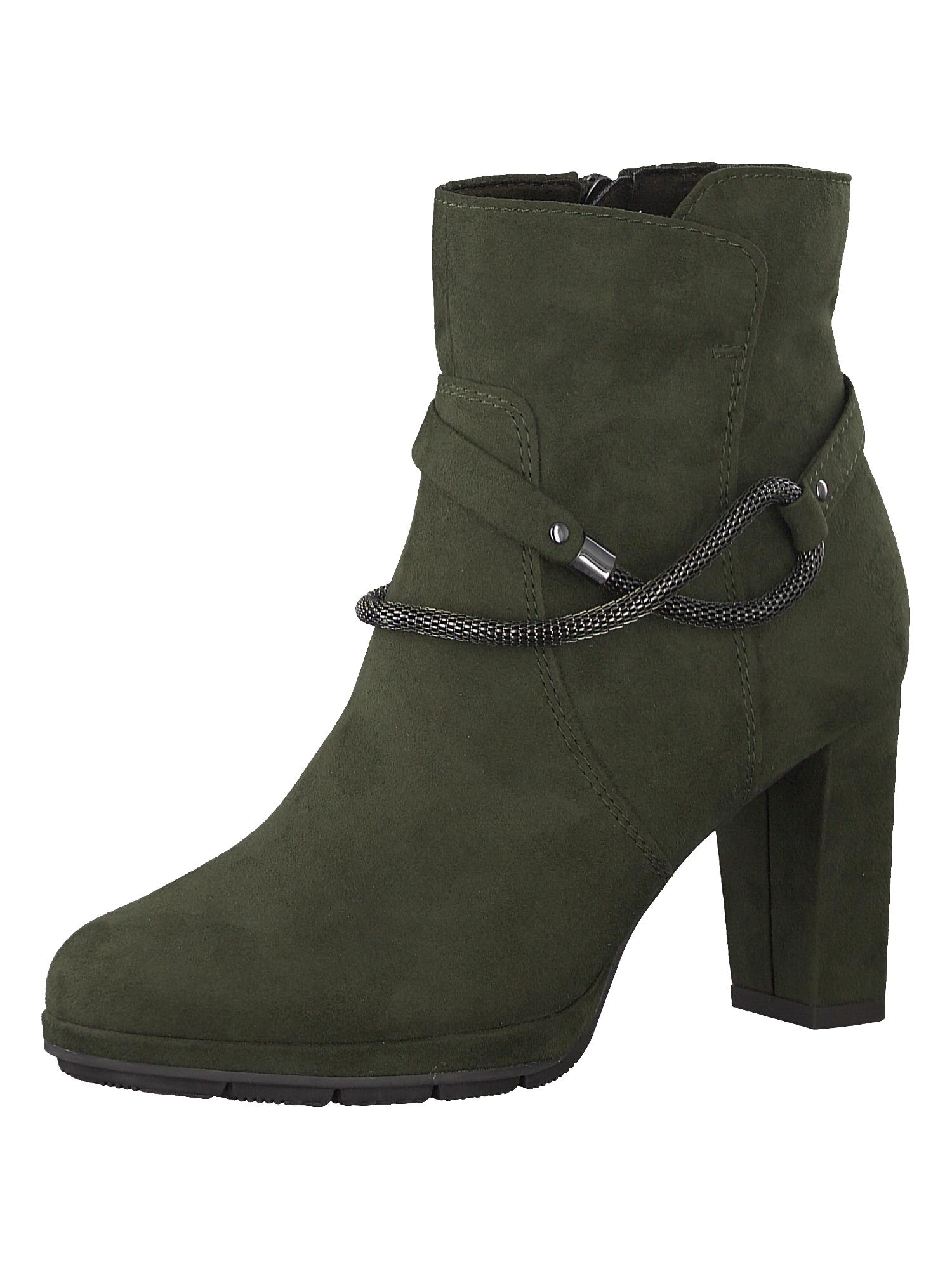 Kotníkové boty khaki MARCO TOZZI