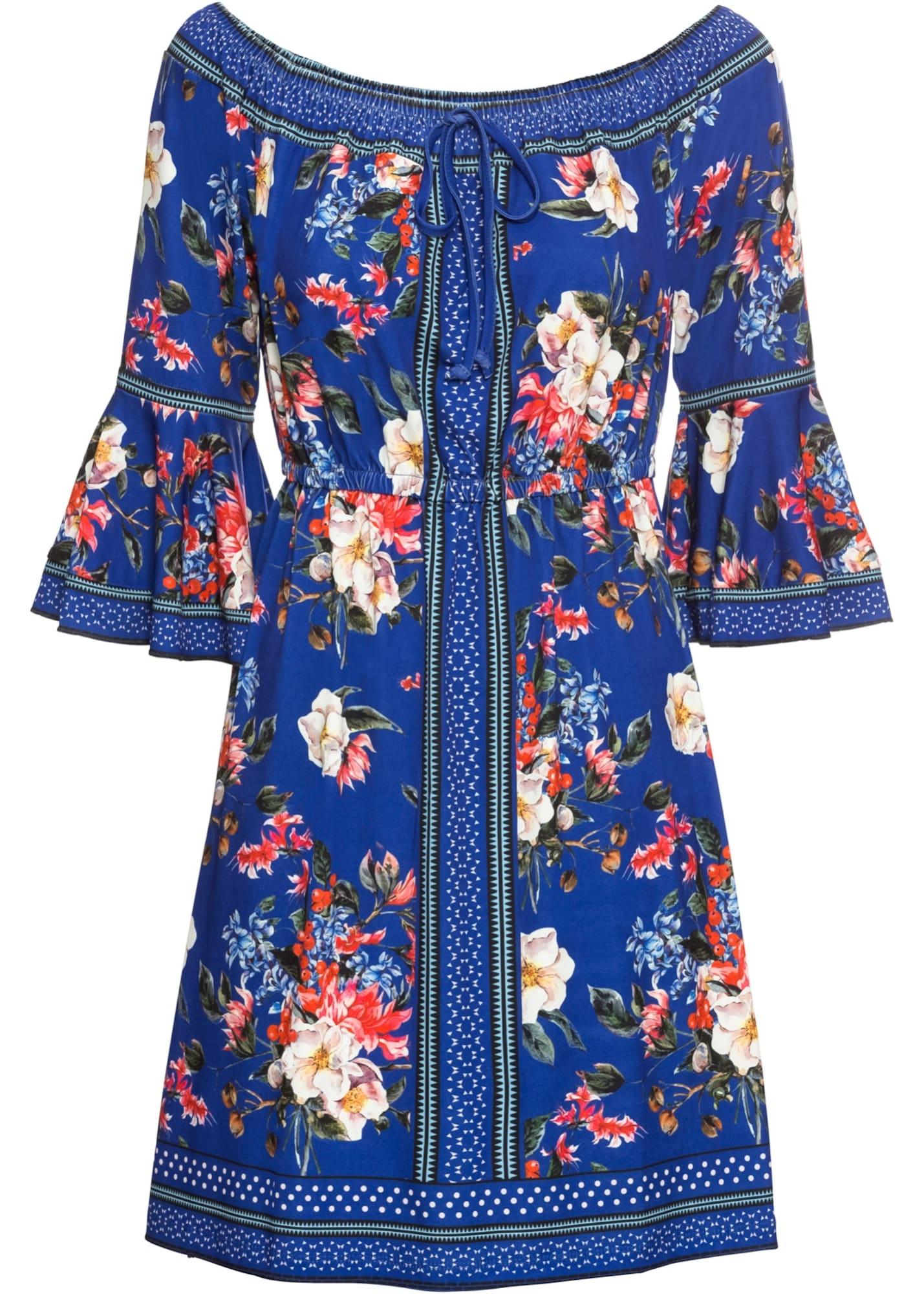 Jerseykleid mit Blumenprint | Bekleidung > Kleider > Jerseykleider | bonprix