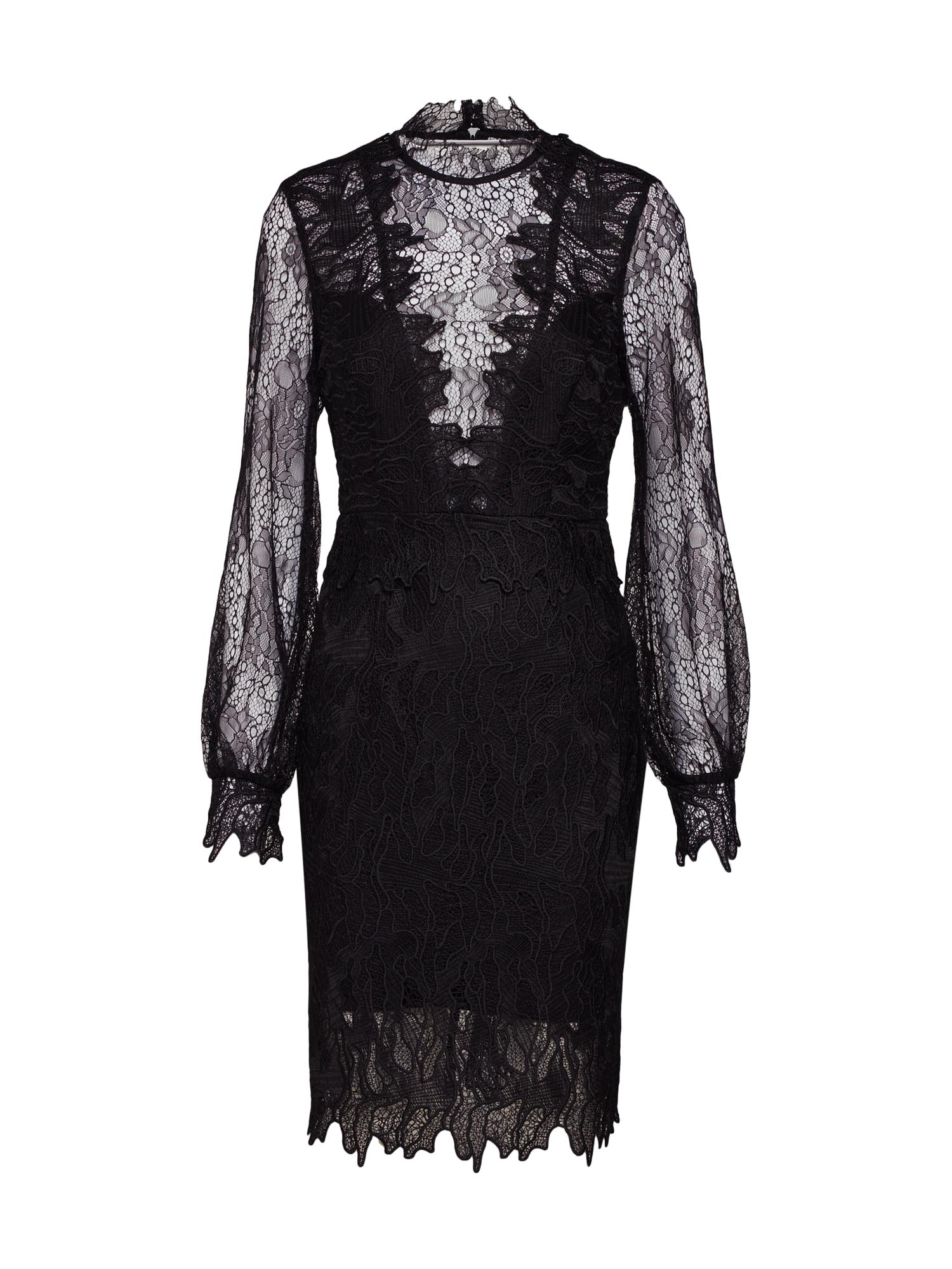 Koktejlové šaty Clarissa černá Bardot