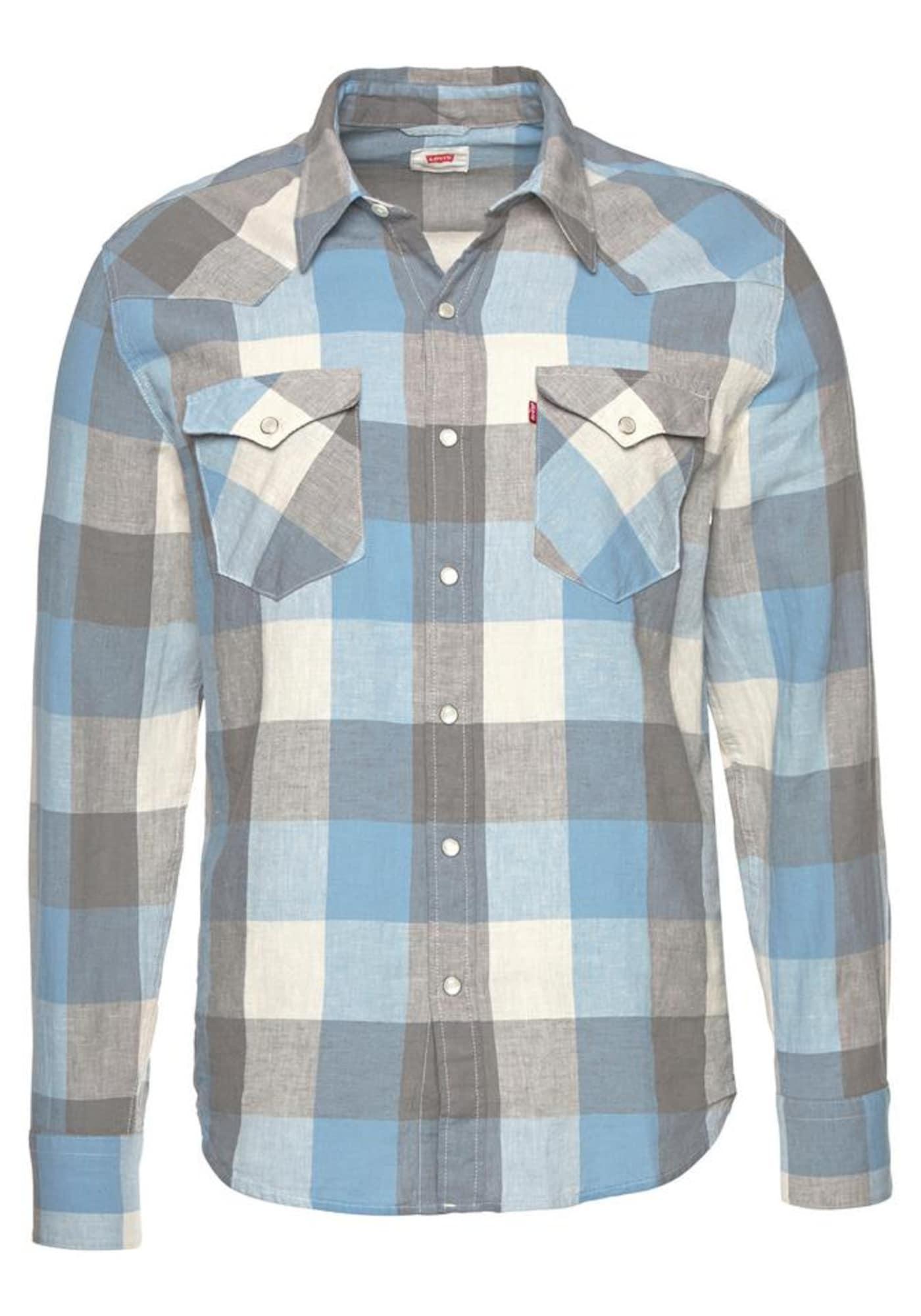 LEVI'S Heren Overhemd blauw grijs
