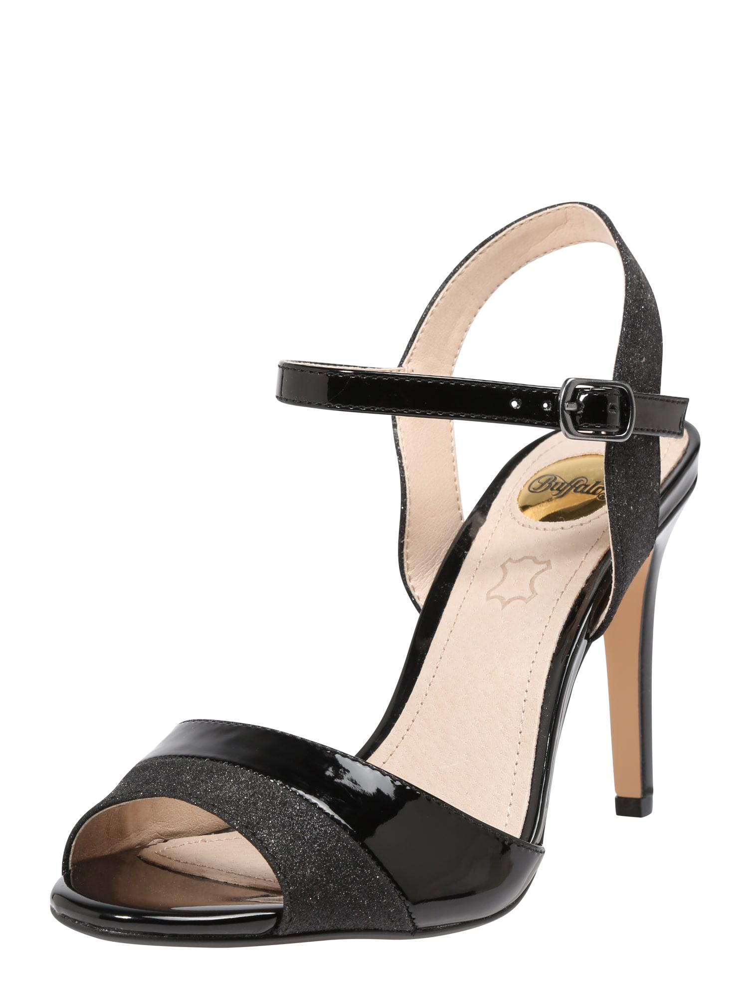 Páskové sandály Aida černá BUFFALO