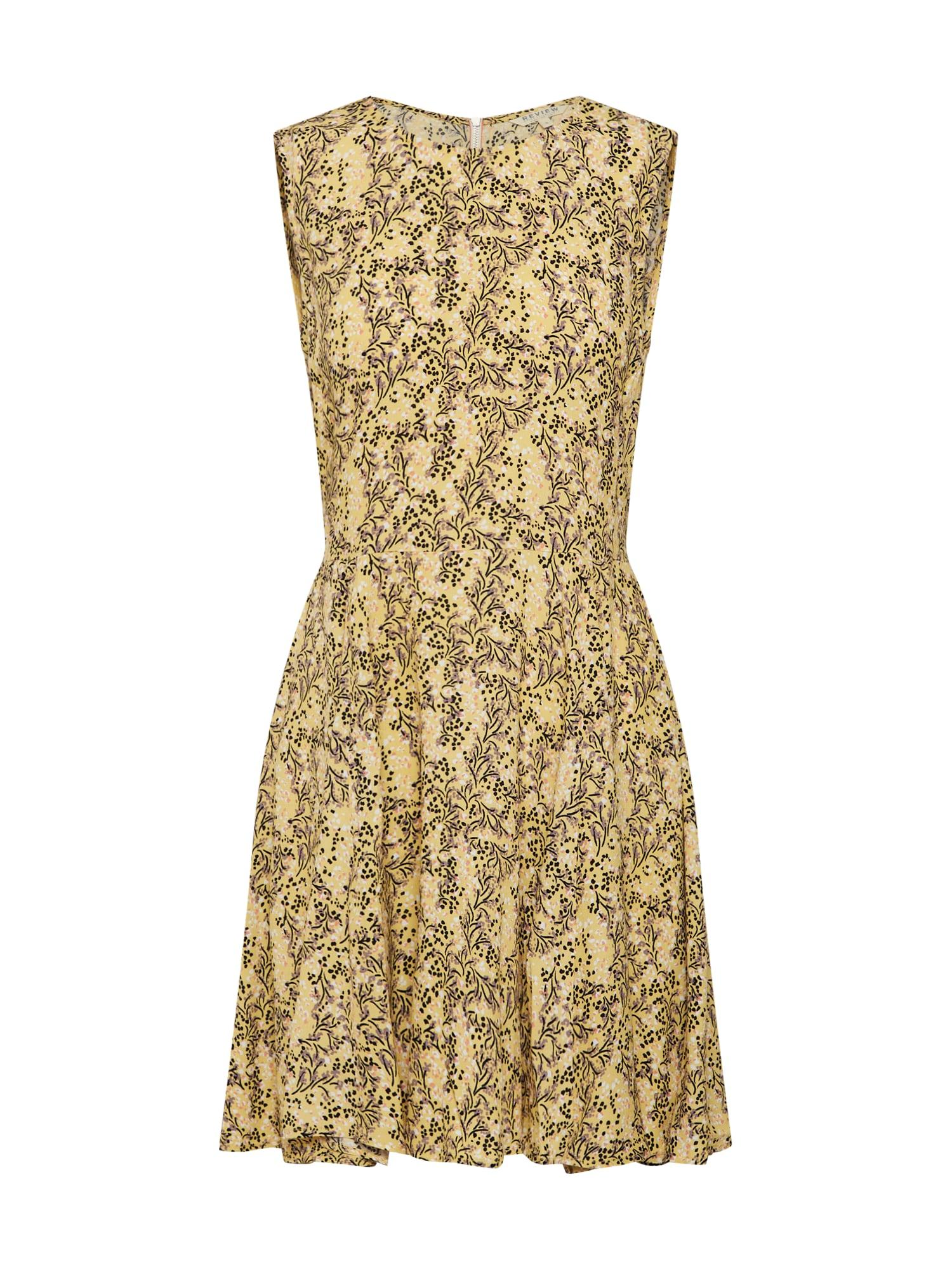 Letní šaty žlutá černá Review