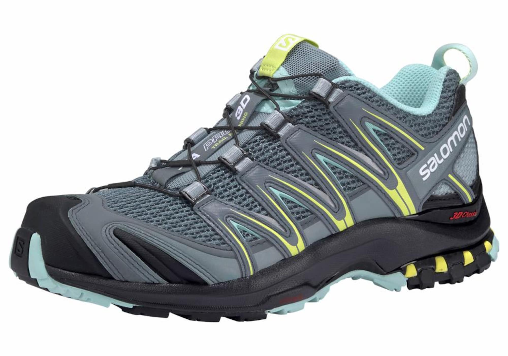 Laufschuh 'XA PRO 3D Trail' | Schuhe > Sportschuhe | Grau - Dunkelgrau - Mint | SALOMON