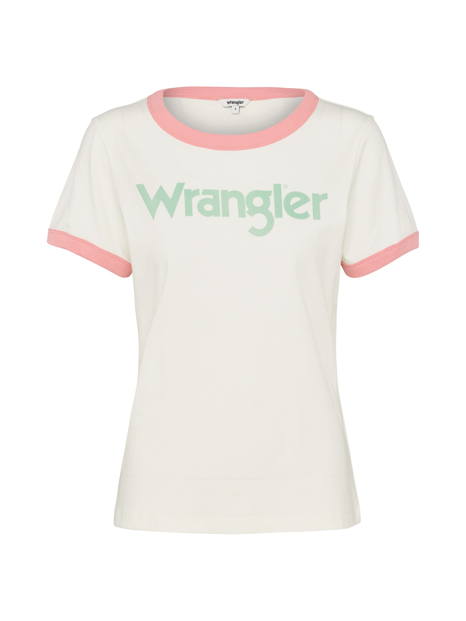 WRANGLER Dames Shirt RETRO KABEL crème lichtgroen lichtroze