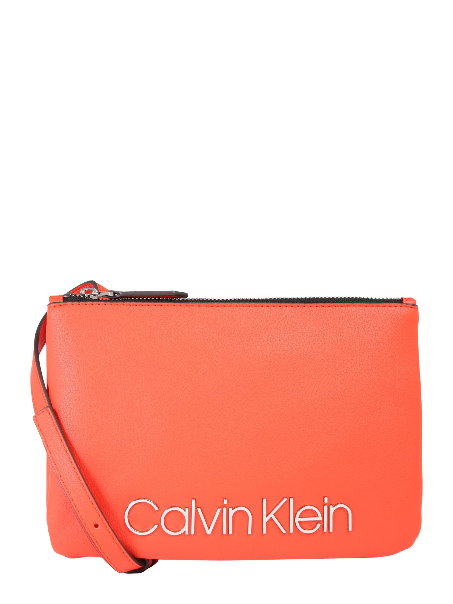 Taška přes rameno CK MUST CROSSOVER oranžová Calvin Klein