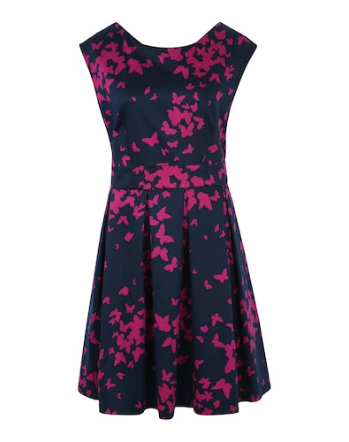 Closet Curves Kleid ´Tie Back Navy Butterfly Dress´ Sale Angebote Gallinchen
