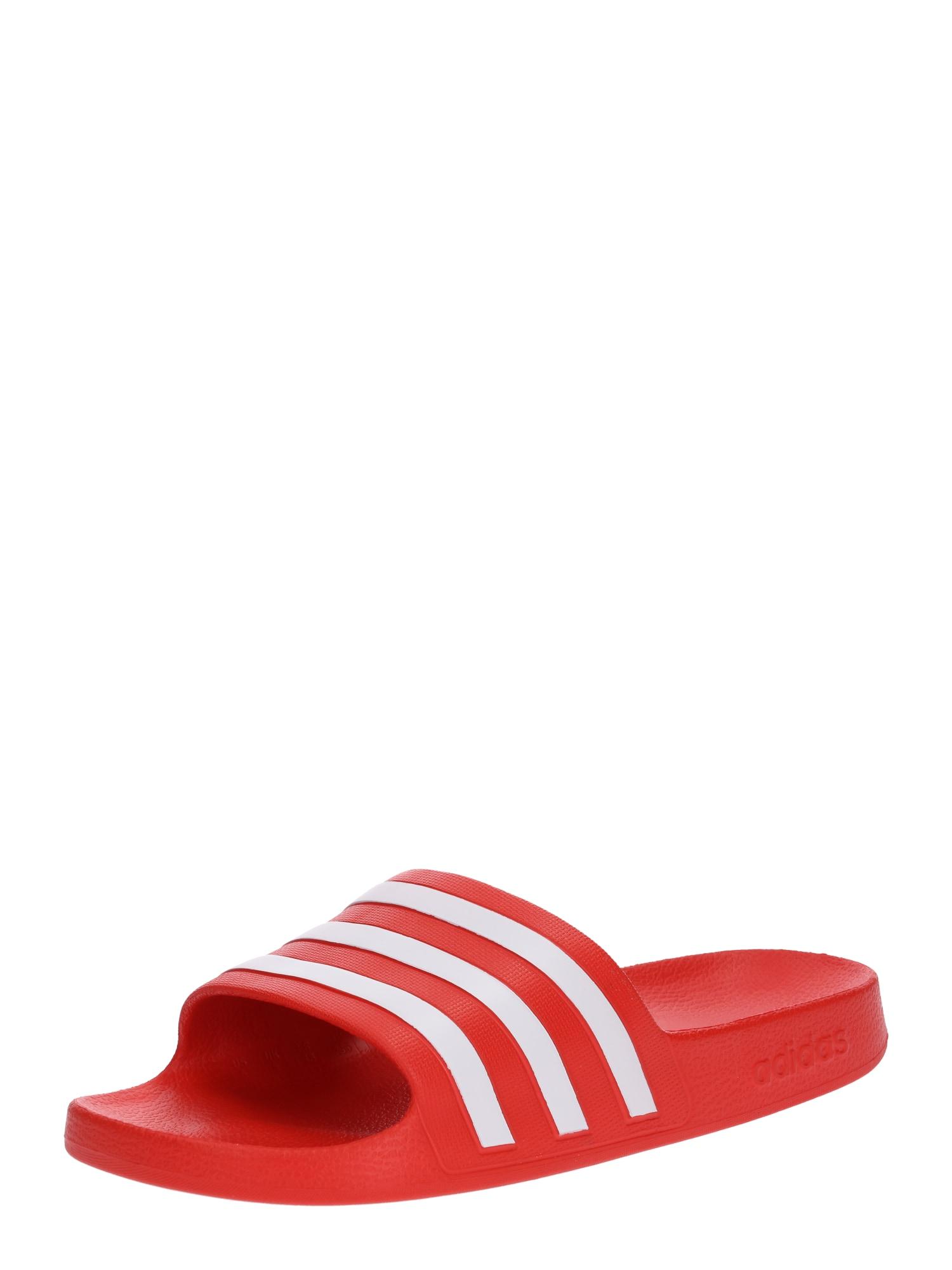 Slipper 'Adilette Aqua' | Schuhe > Slipper | Rot - Weiß | ADIDAS ORIGINALS
