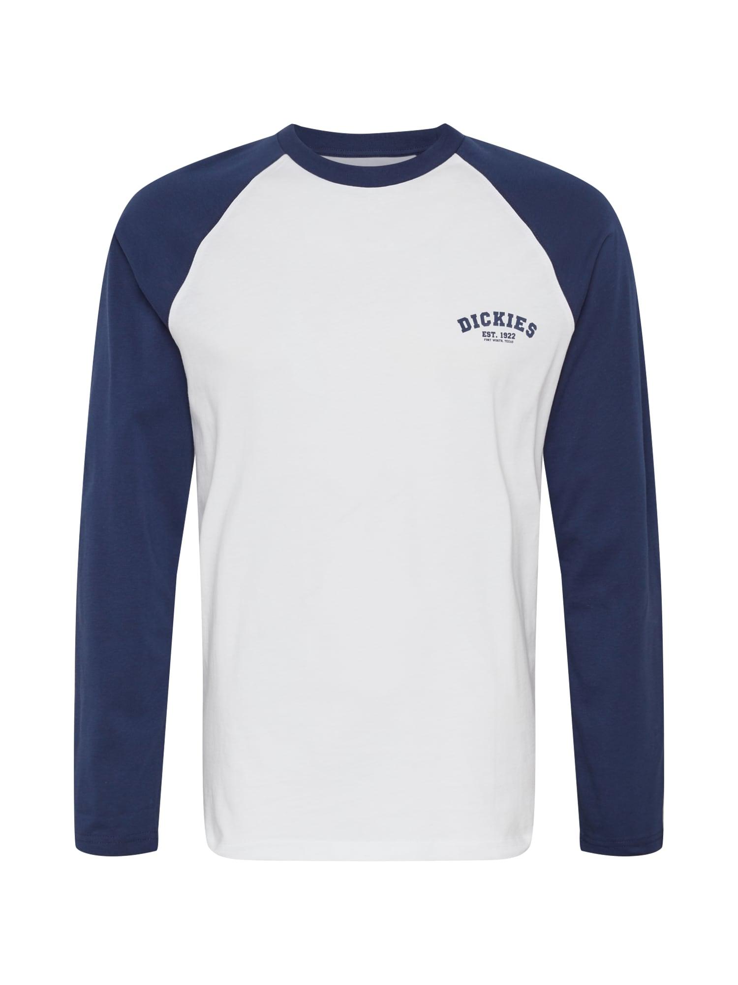 DICKIES Tričko 'Baseball'  bílá / modrá