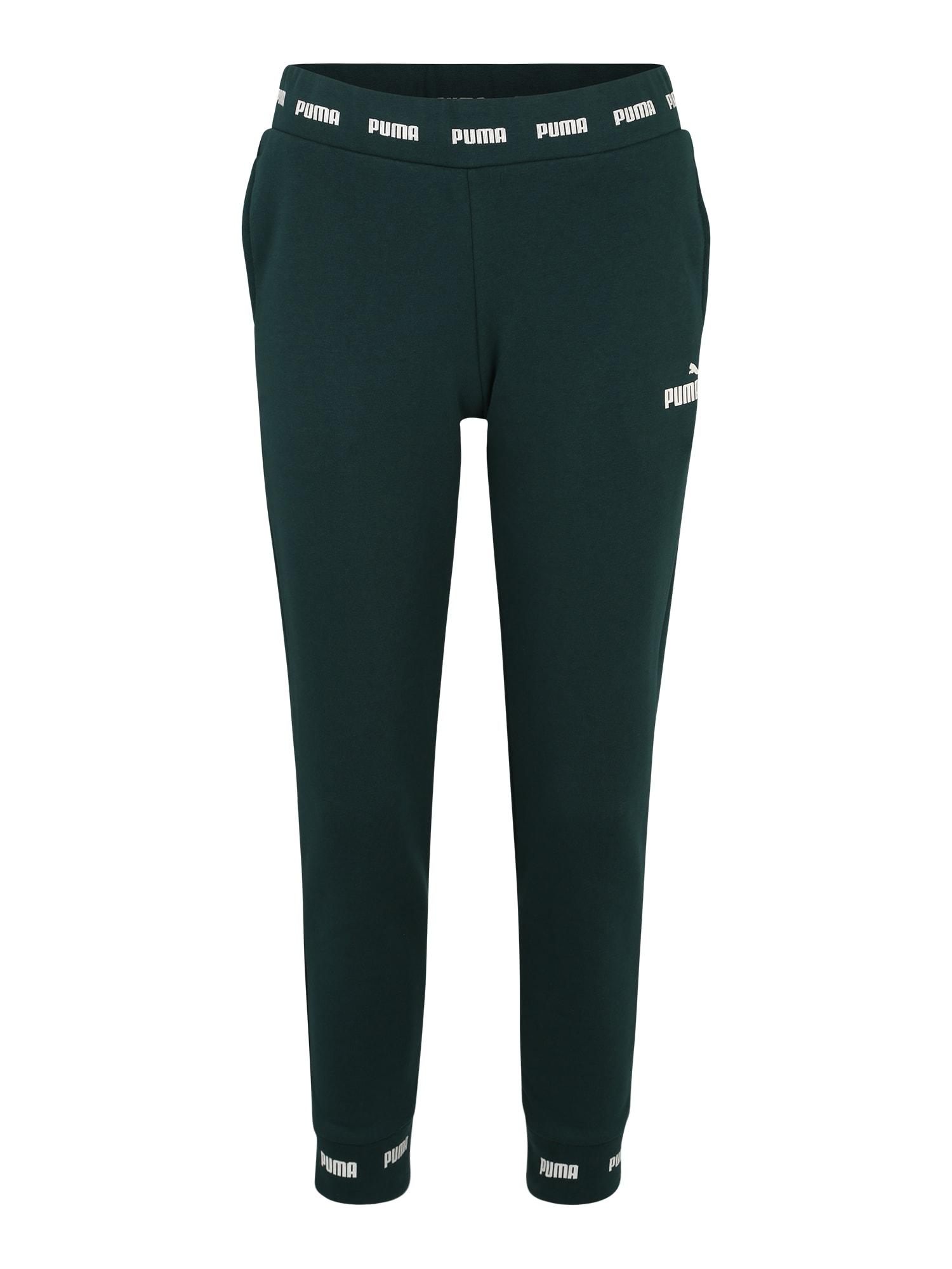 Sportovní kalhoty Amplified tmavě zelená PUMA