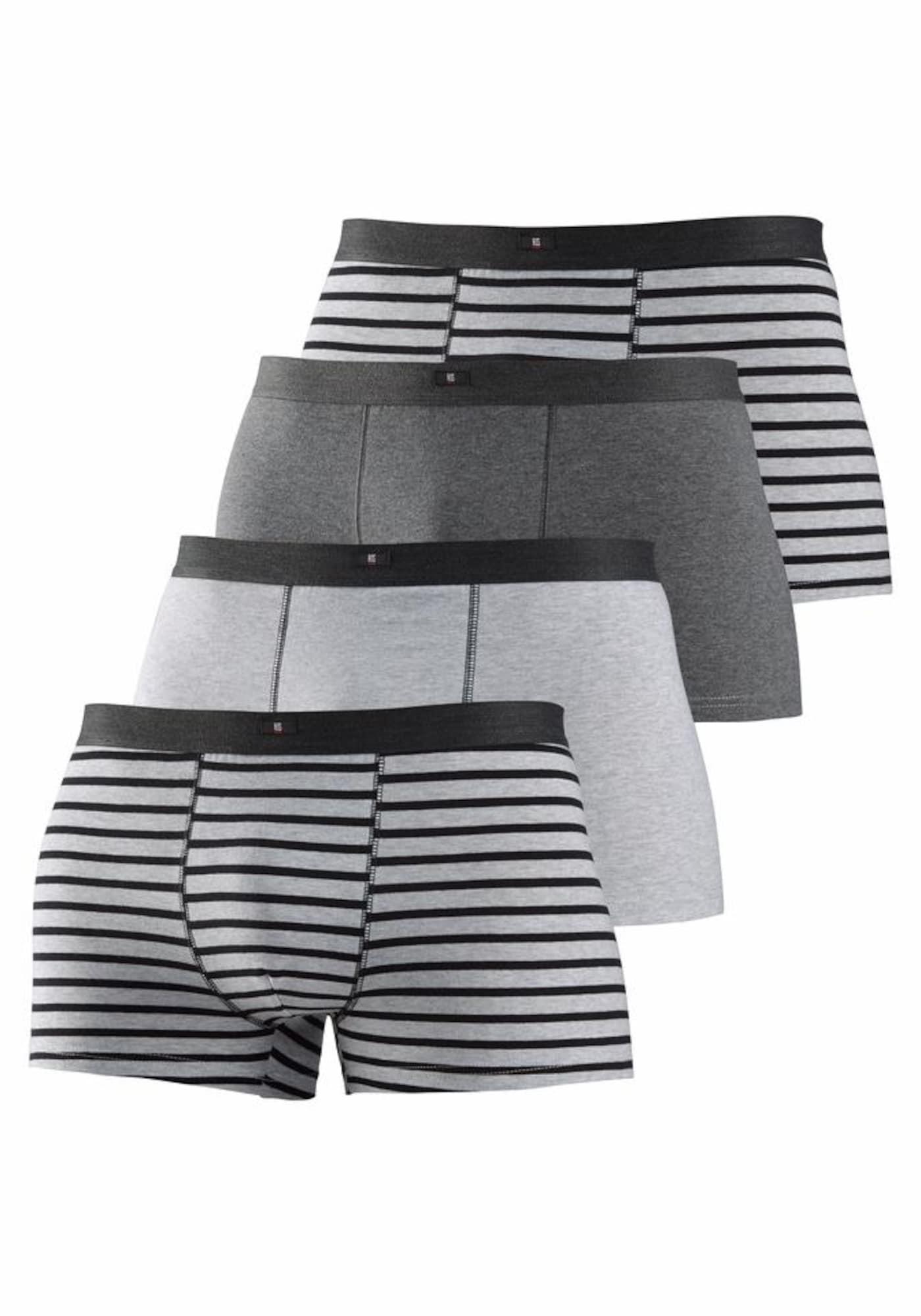 Boxerky šedá antracitová šedý melír H.I.S