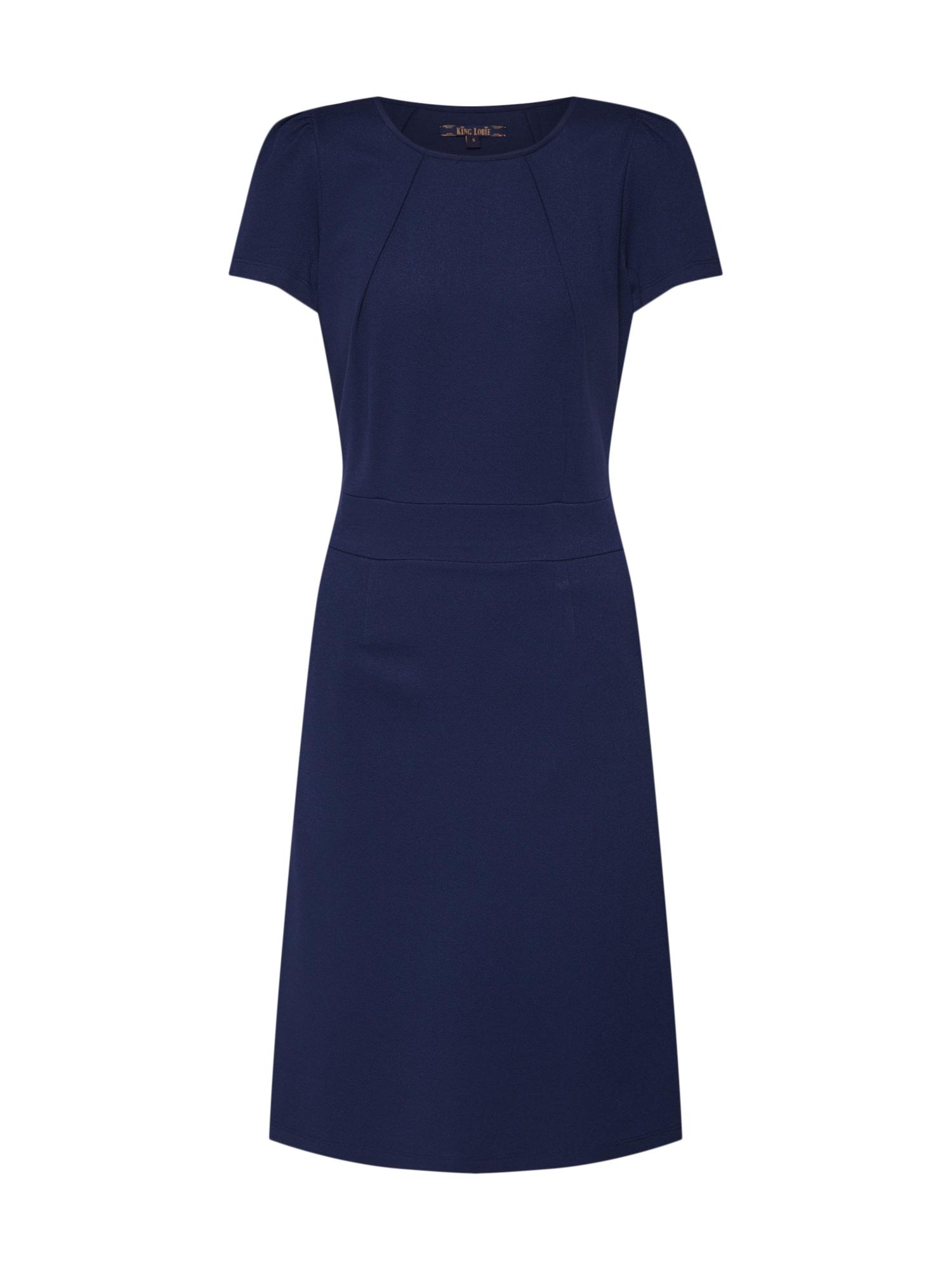 Šaty Mona Dress Milano Crepe námořnická modř tmavě modrá King Louie