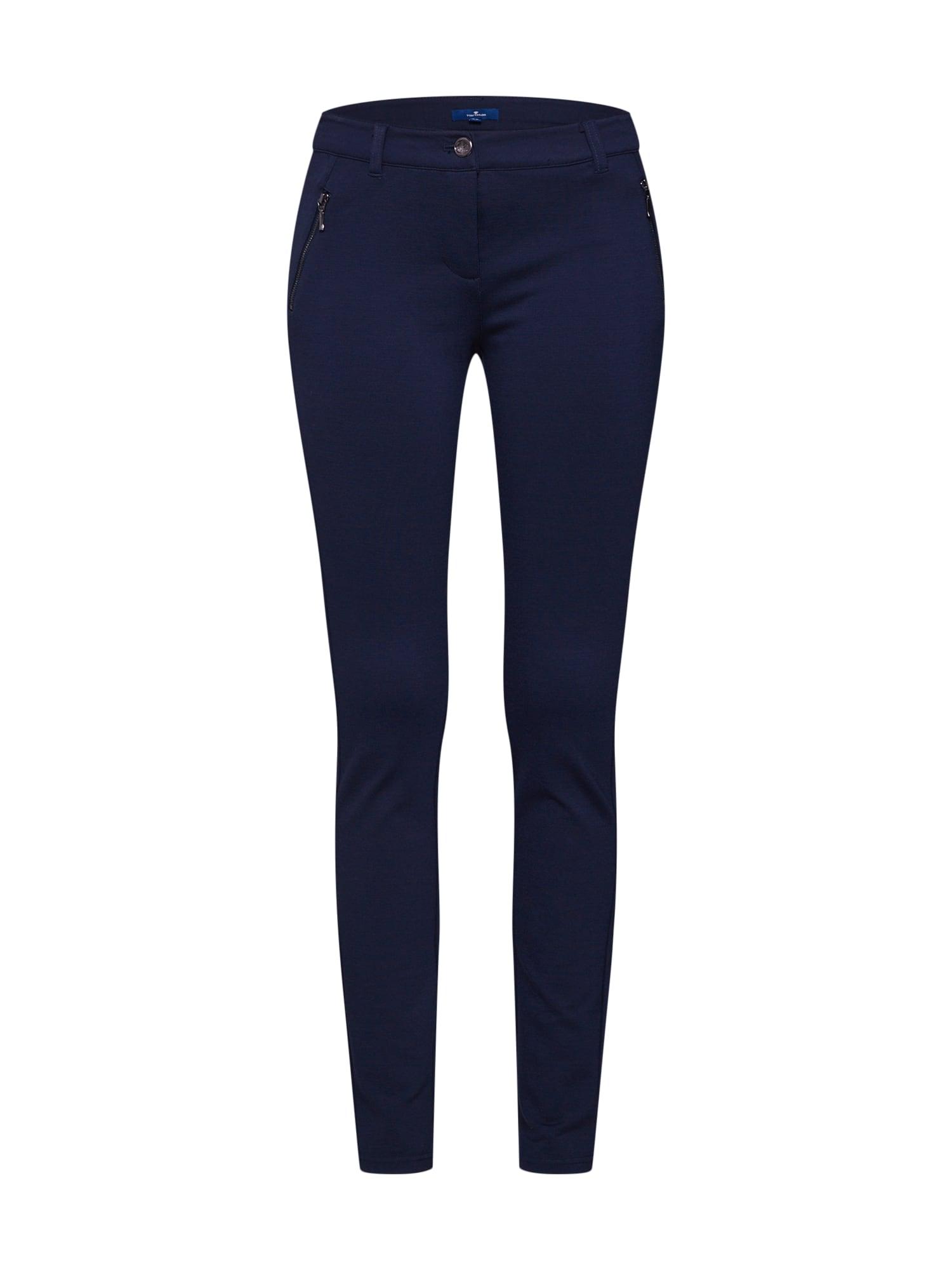 Kalhoty zipped ponte TREGGINGS námořnická modř TOM TAILOR