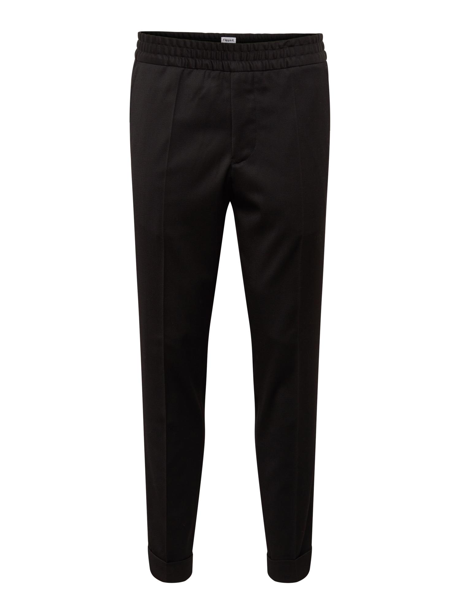Kalhoty s puky M. Terry Gabardine Cropped Trouser černá Filippa K