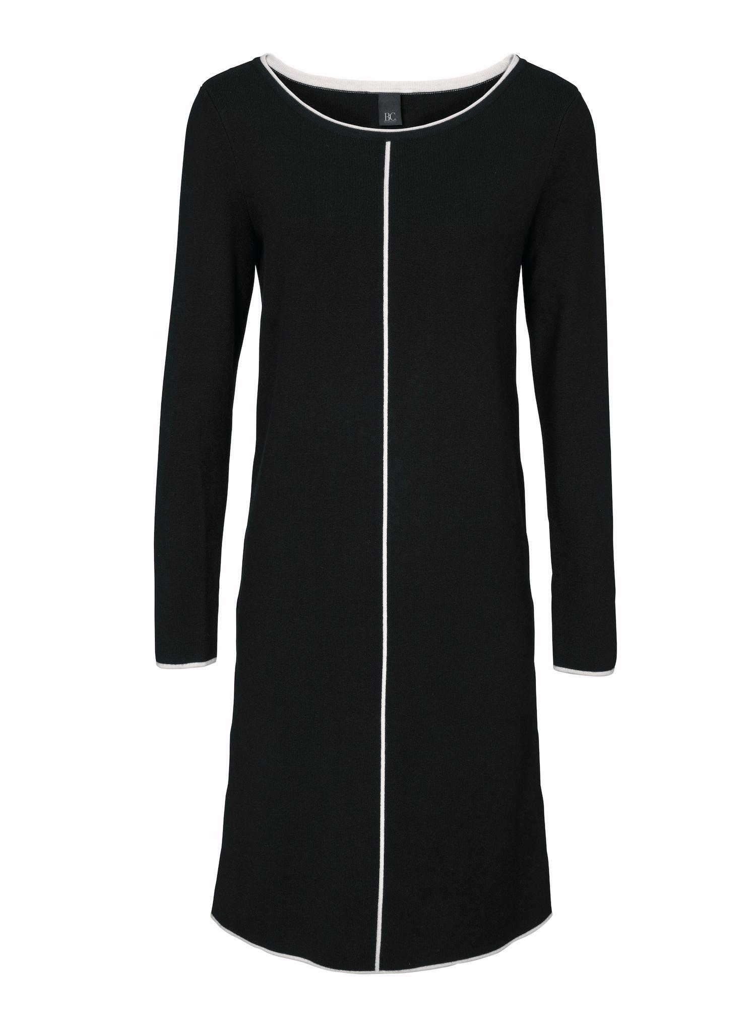 Úpletové šaty černá Heine