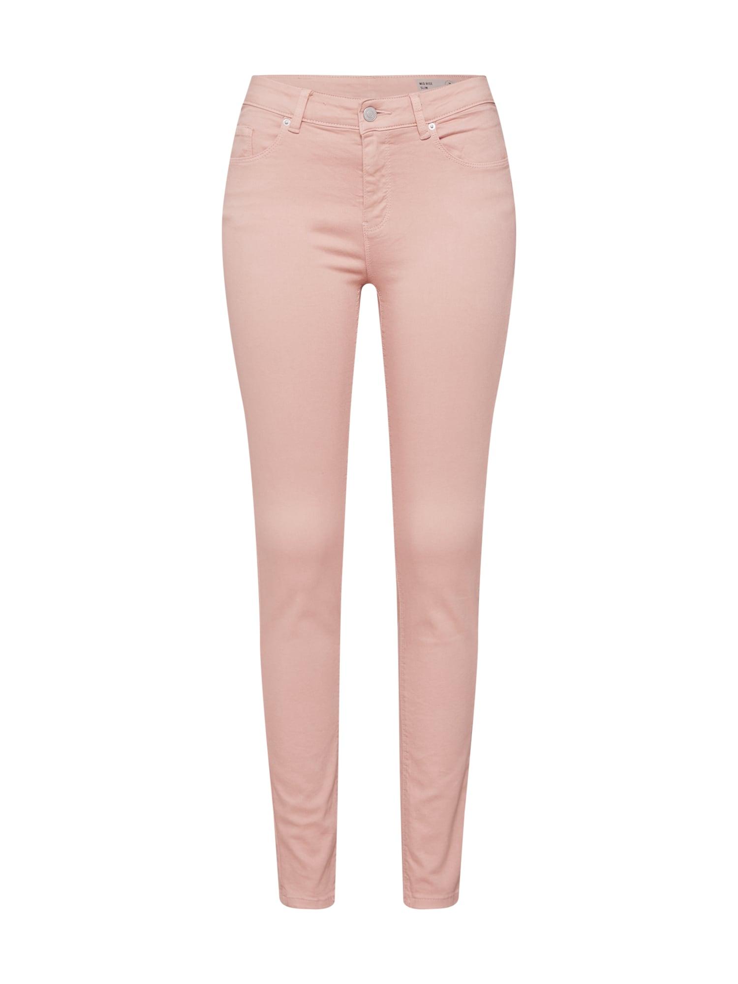 Kalhoty VMHOT SEVEN MR SLIM PUSH UP PANTS NOOS růžová VERO MODA