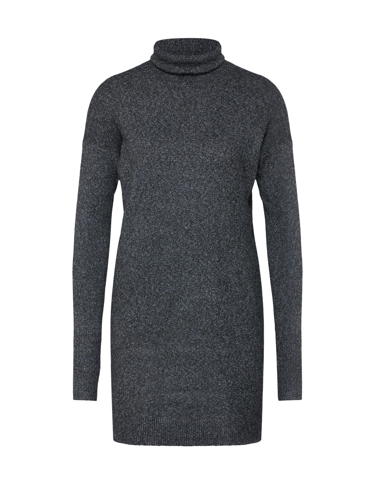 Úpletové šaty BRILLIANT antracitová VERO MODA