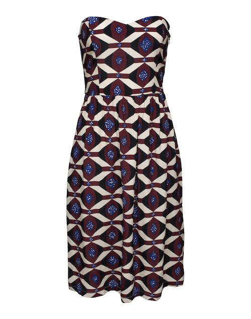Ethno-inspiriertes Dress von EDITED the label mit herzförmigem Dekolleté. Der Schnitt formt eine tolle Silhouette und legt den Fokus auf die Taille. Tipp: Die abnehmbaren Träger sorgen für Extra-Halt.