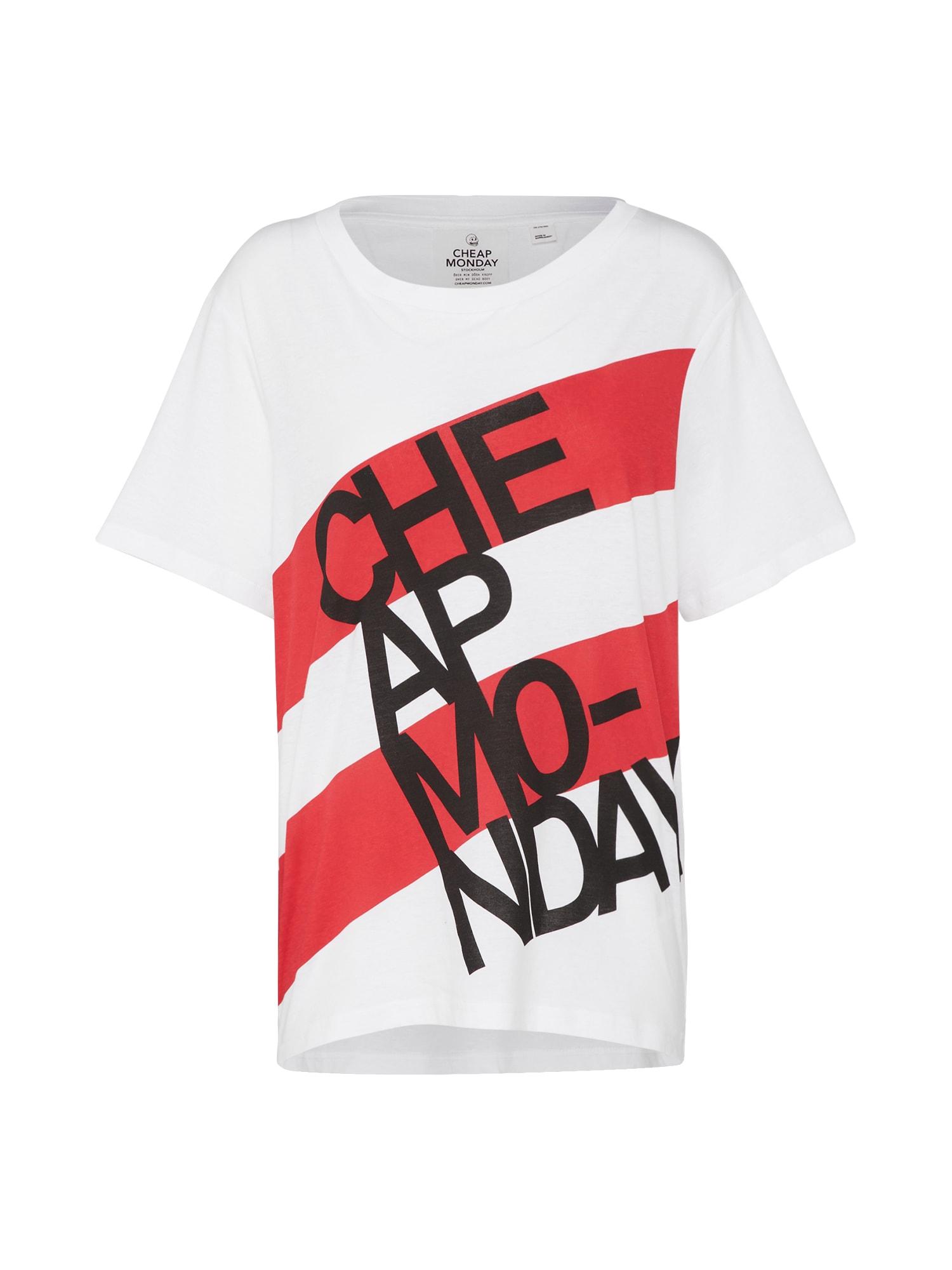 CHEAP MONDAY Dames Shirt Breeze rood wit