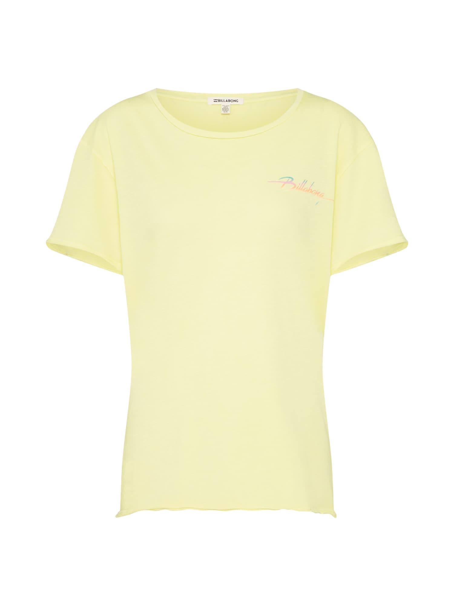 Funkční tričko BEACH DAZE pastelově žlutá BILLABONG
