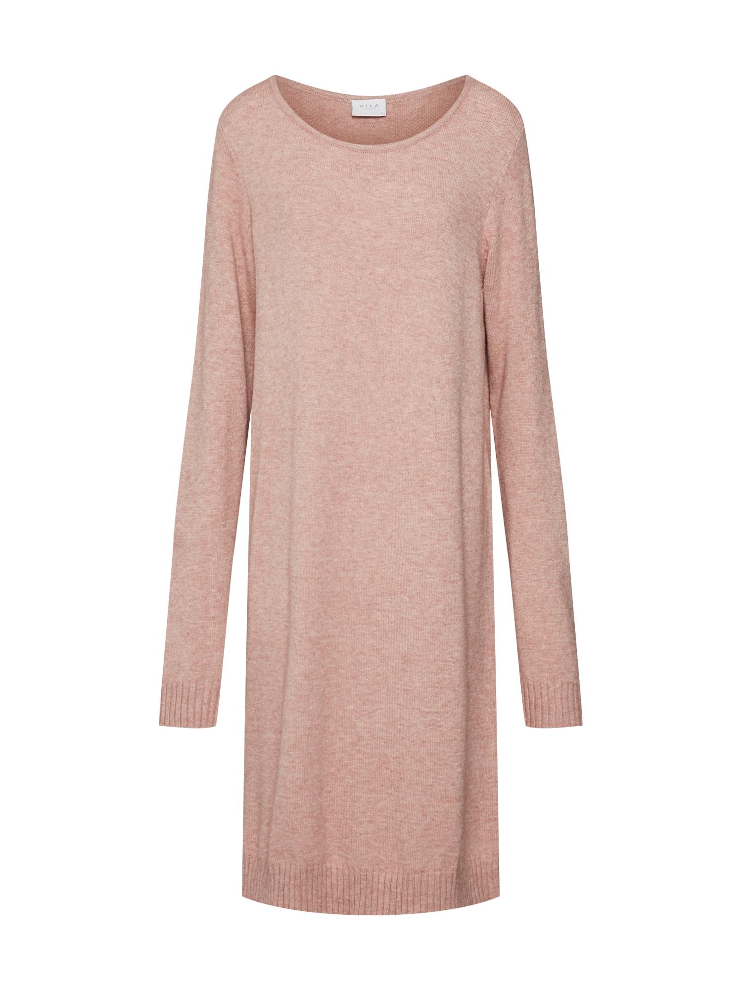 Úpletové šaty růžová VILA