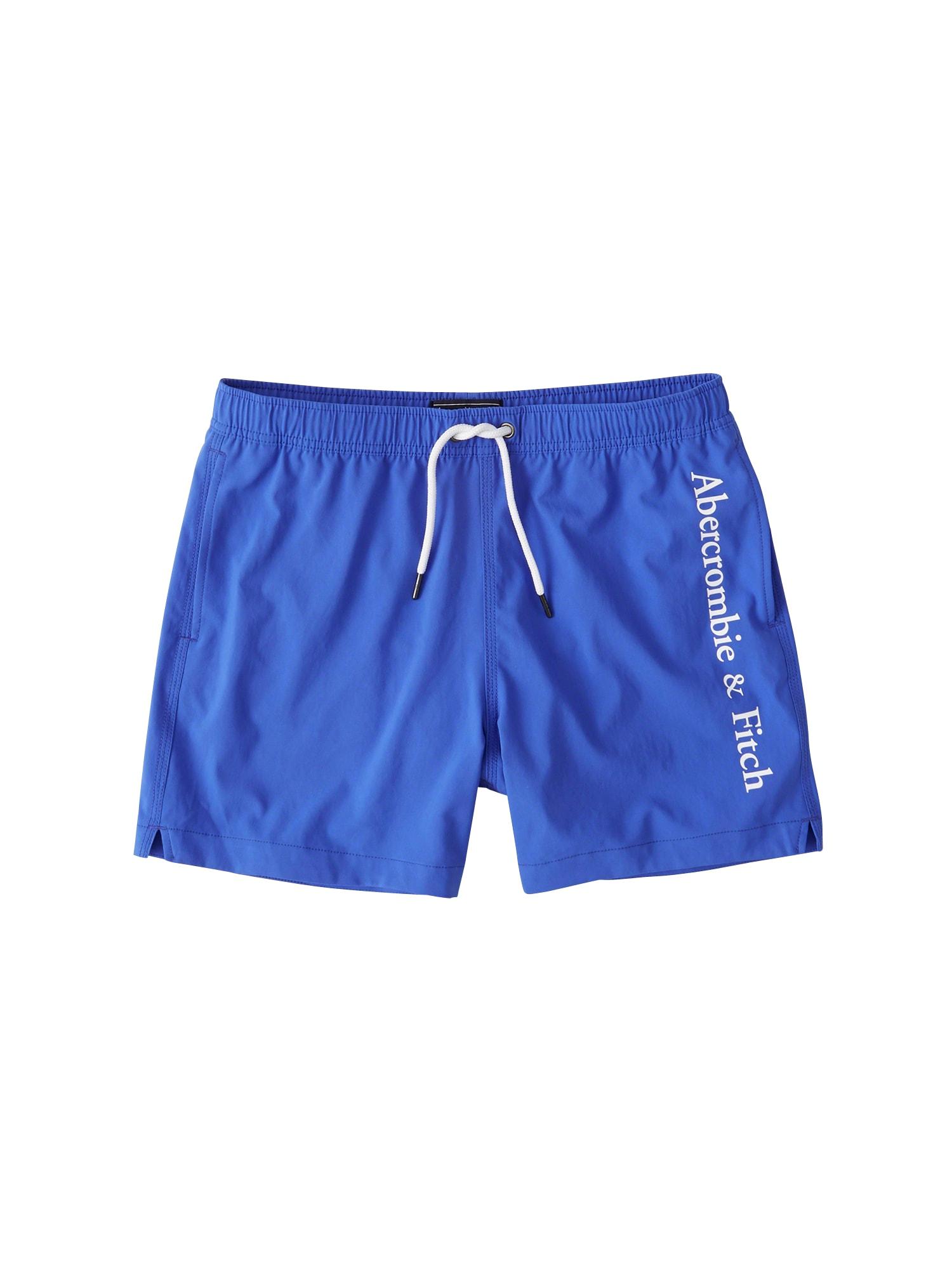 Plavecké šortky (S-EF468) SB19-5 INCH SOLID BLUE 1CC $48 kobaltová modř Abercrombie & Fitch