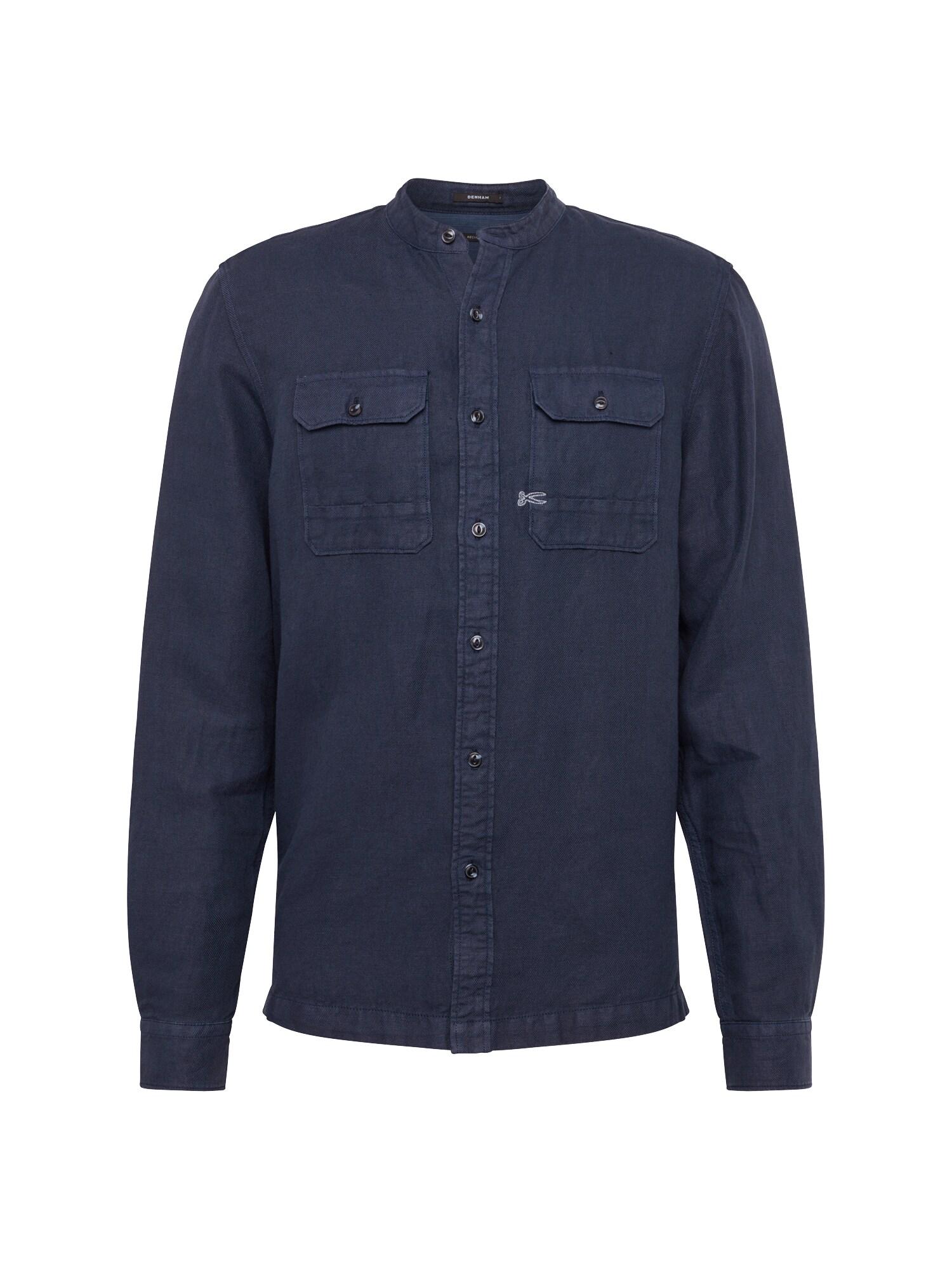 Košile DRIFT SHIRT GT tmavě modrá DENHAM