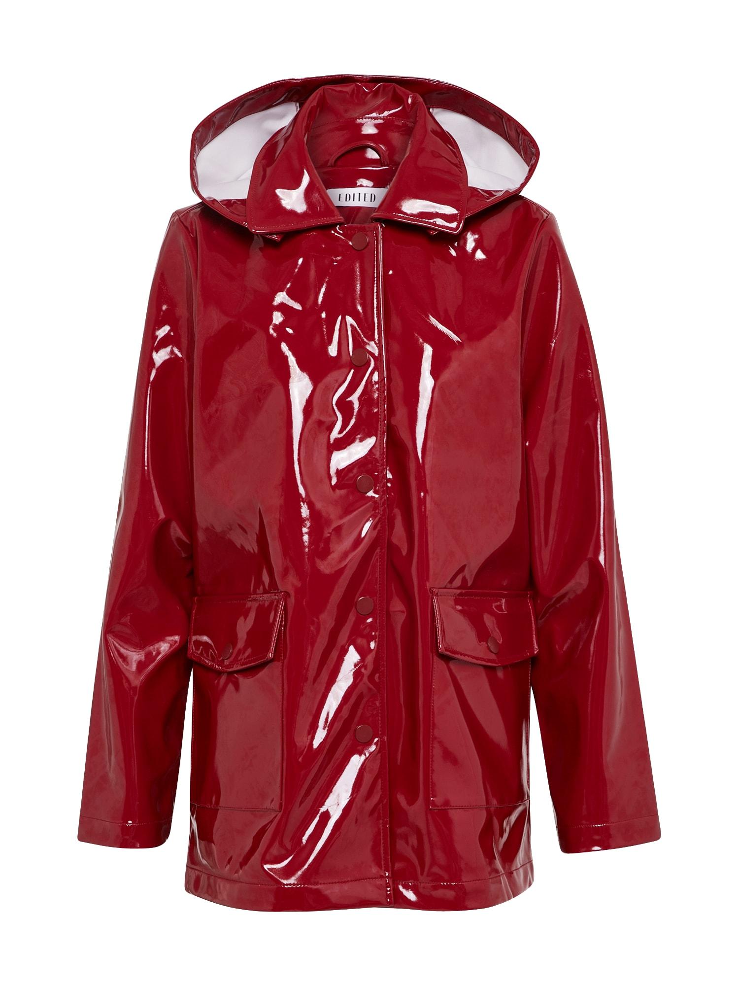 Přechodný kabát Rika rubínově červená EDITED