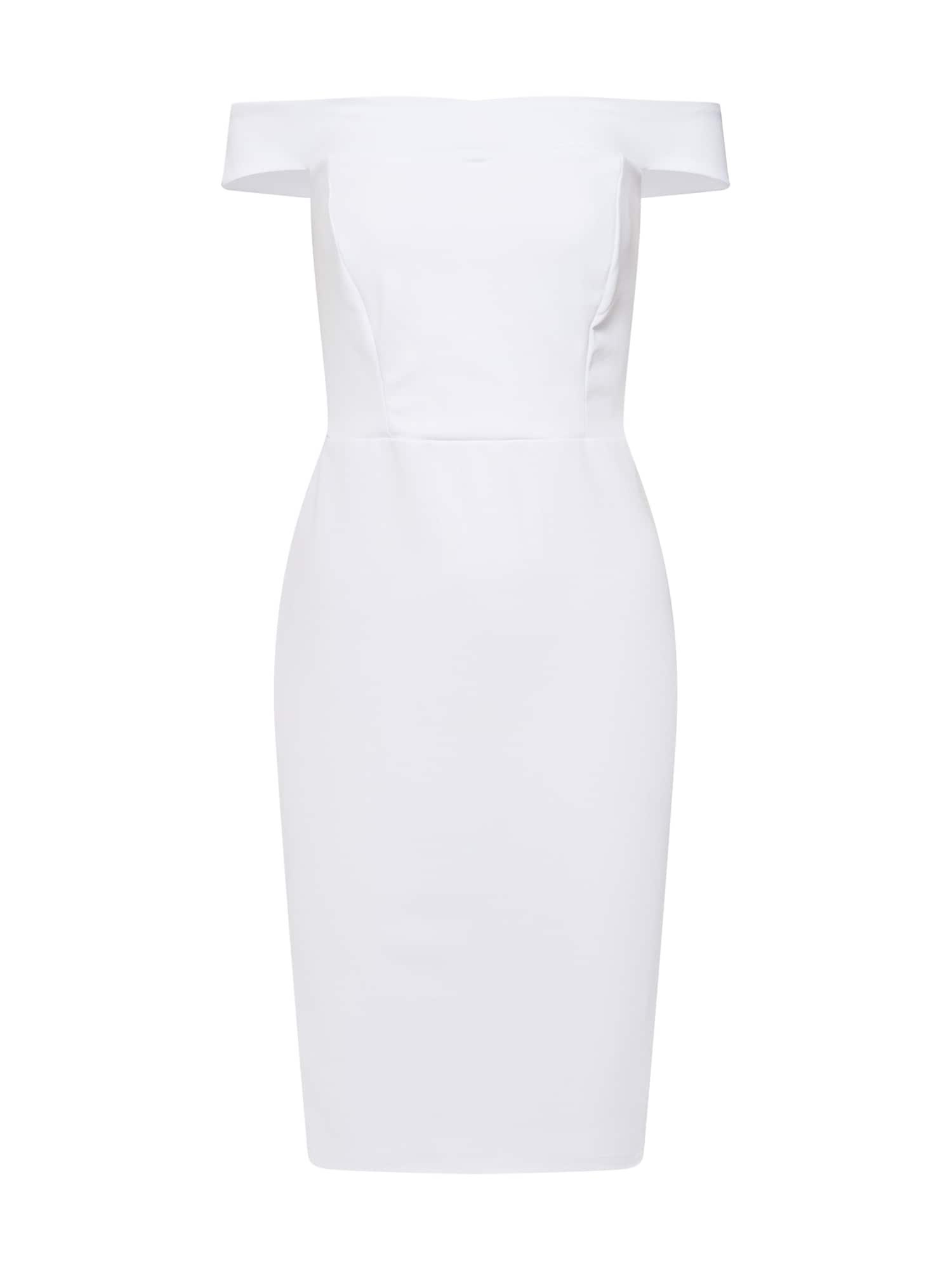 Pouzdrové šaty Scuba Bardot bílá Missguided