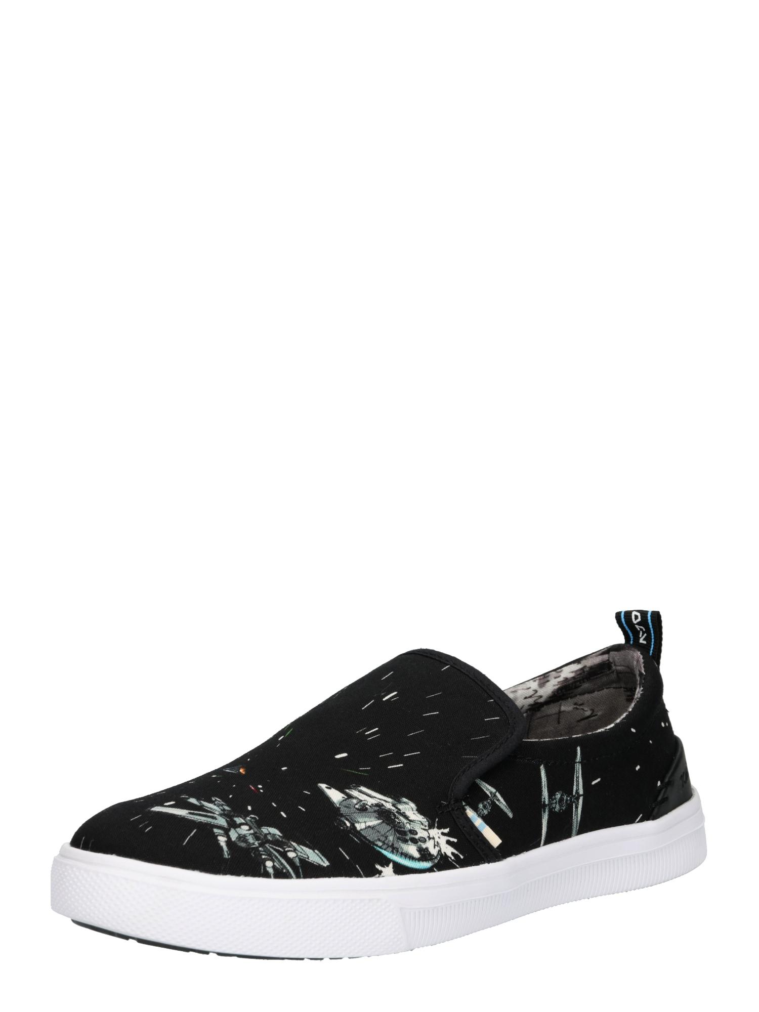 Slip on boty černá bílá TOMS
