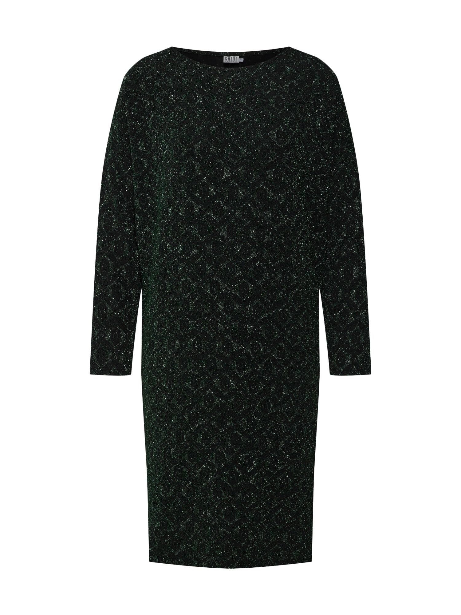 Šaty tmavě zelená černá SAINT TROPEZ