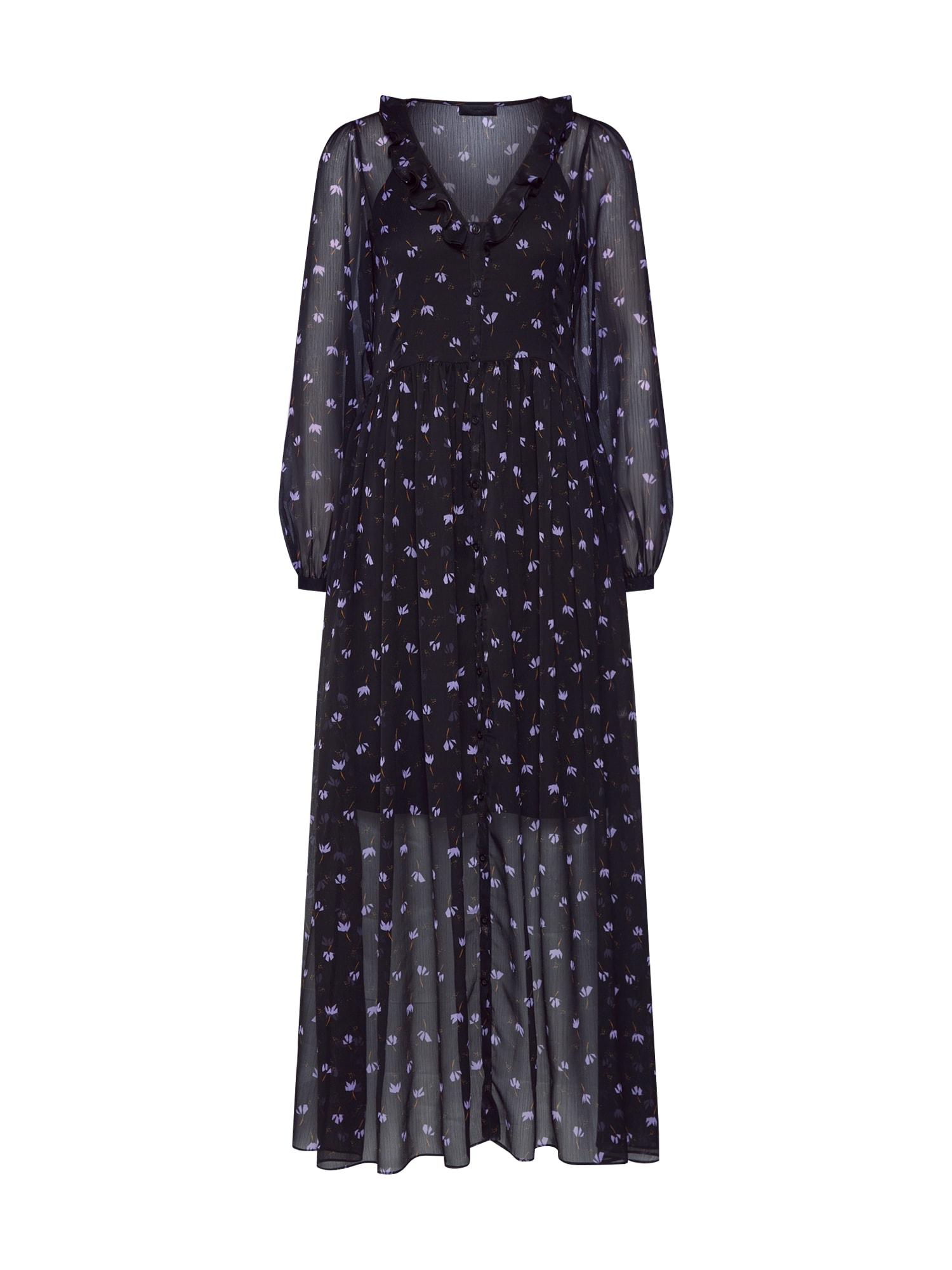 Košilové šaty Petra Anemone šeříková černá 2ND DAY