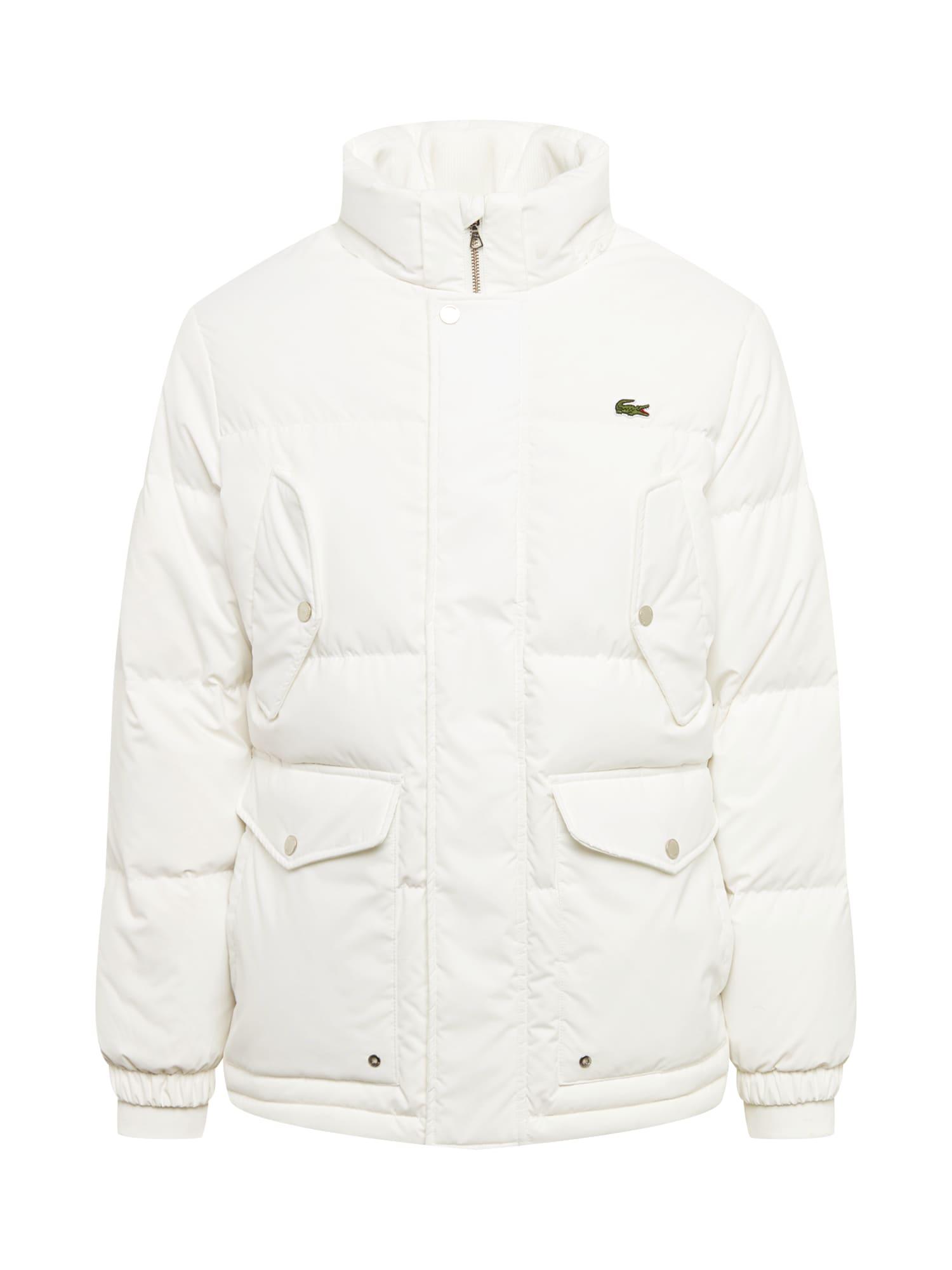 Zimní bunda BLOUSON krémová LACOSTE