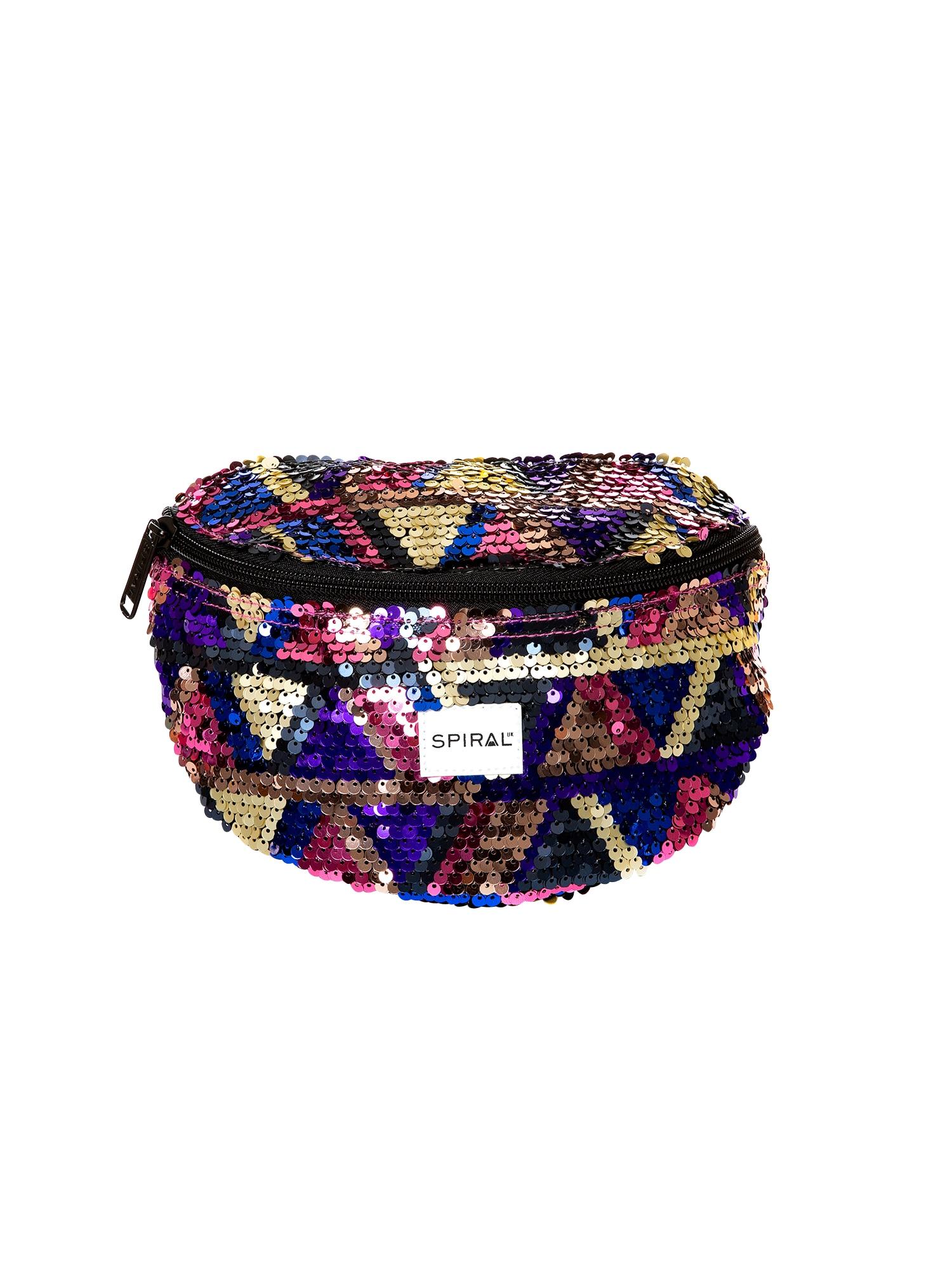 Ledvinka BUM BAG 13 zlatá fialová SPIRAL