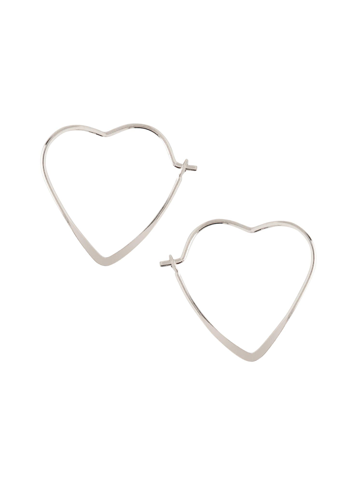 Náušnice small heart hoop stříbrná Orelia