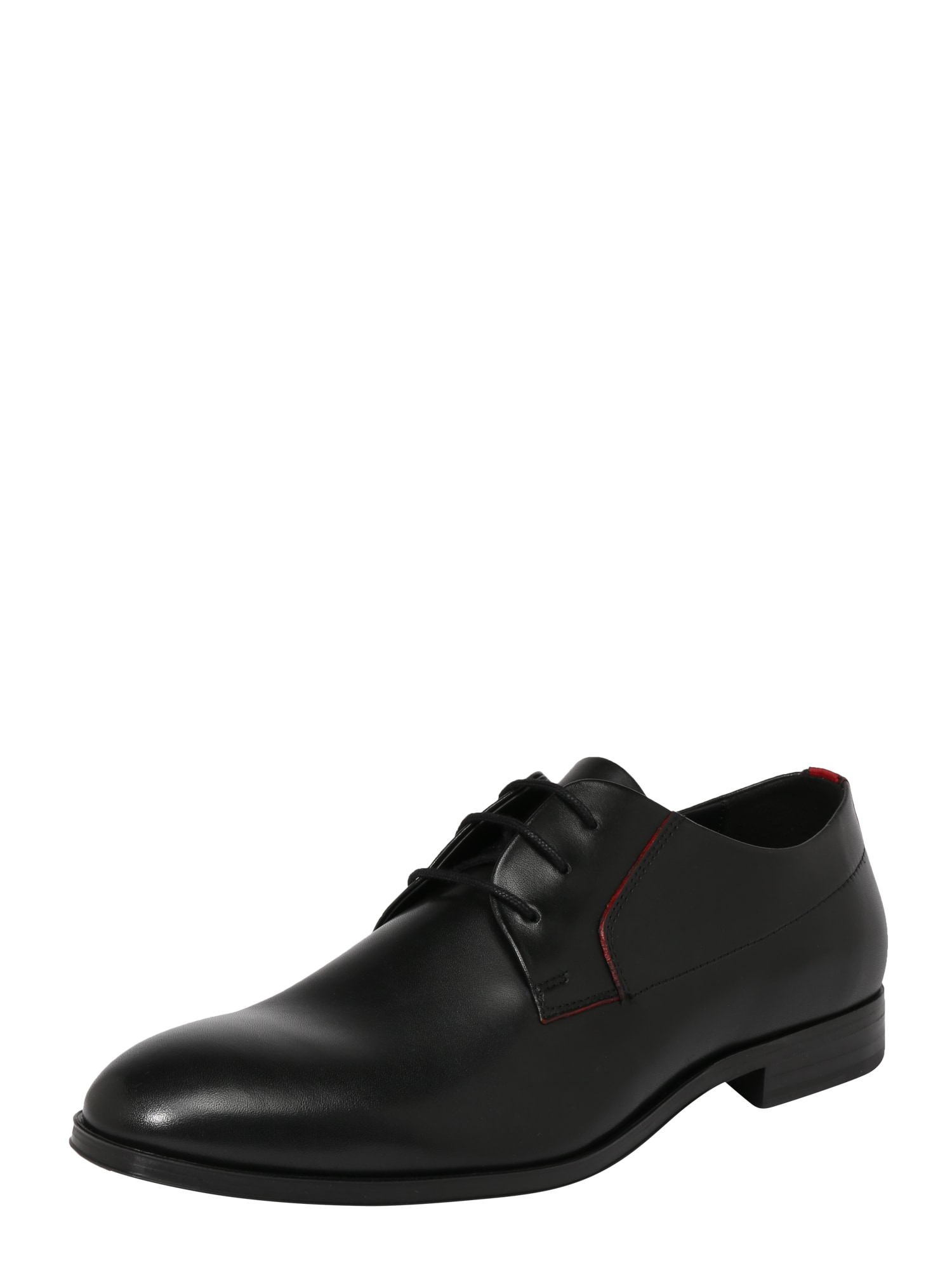 Šněrovací boty Boheme Derb ltre červená černá HUGO