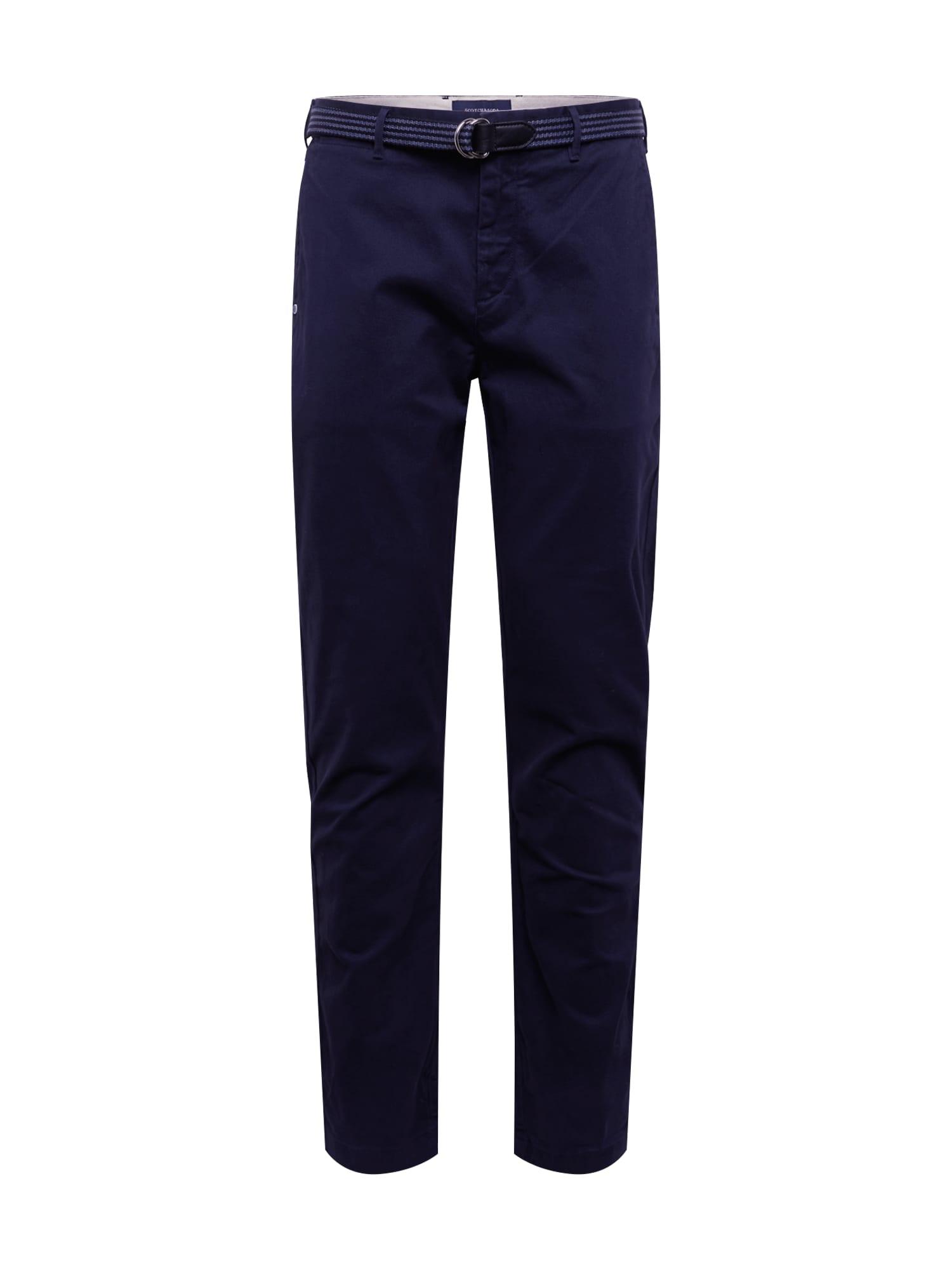 SCOTCH & SODA Chino kalhoty 'Stretch Stuart with belt'  noční modrá