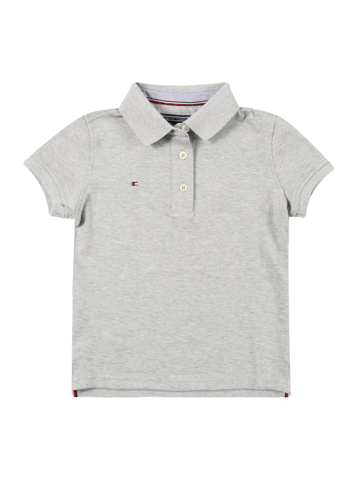 Tričko šedý melír TOMMY HILFIGER