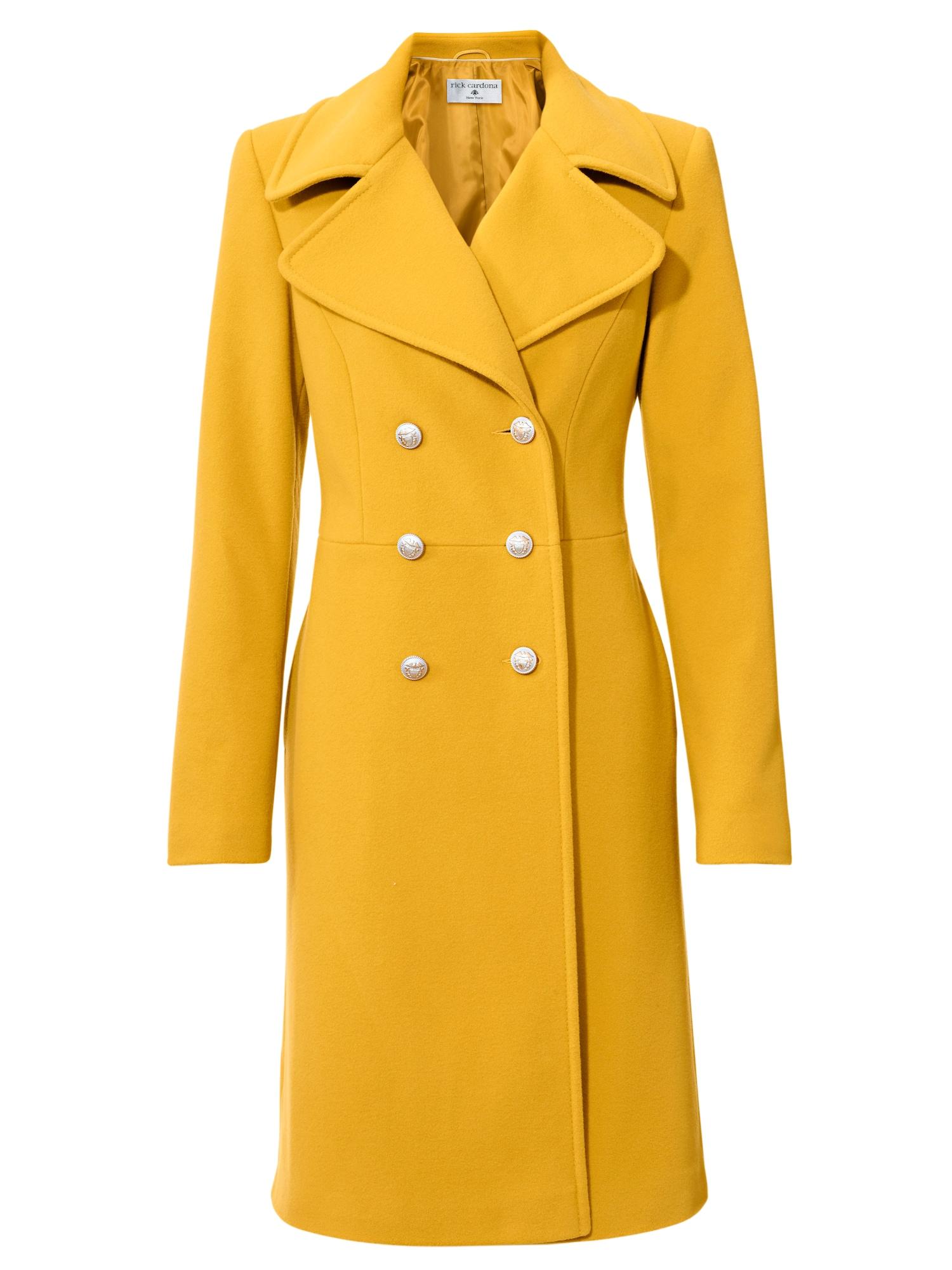 Zimní kabát žlutá Heine