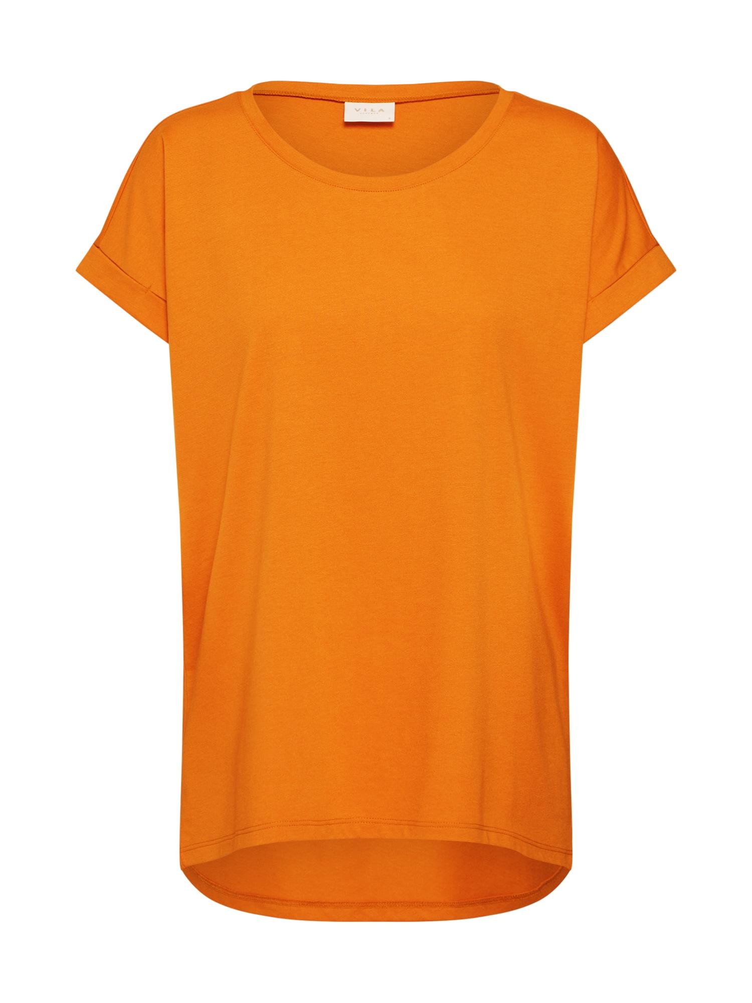 Tričko Dreamers tmavě žlutá VILA