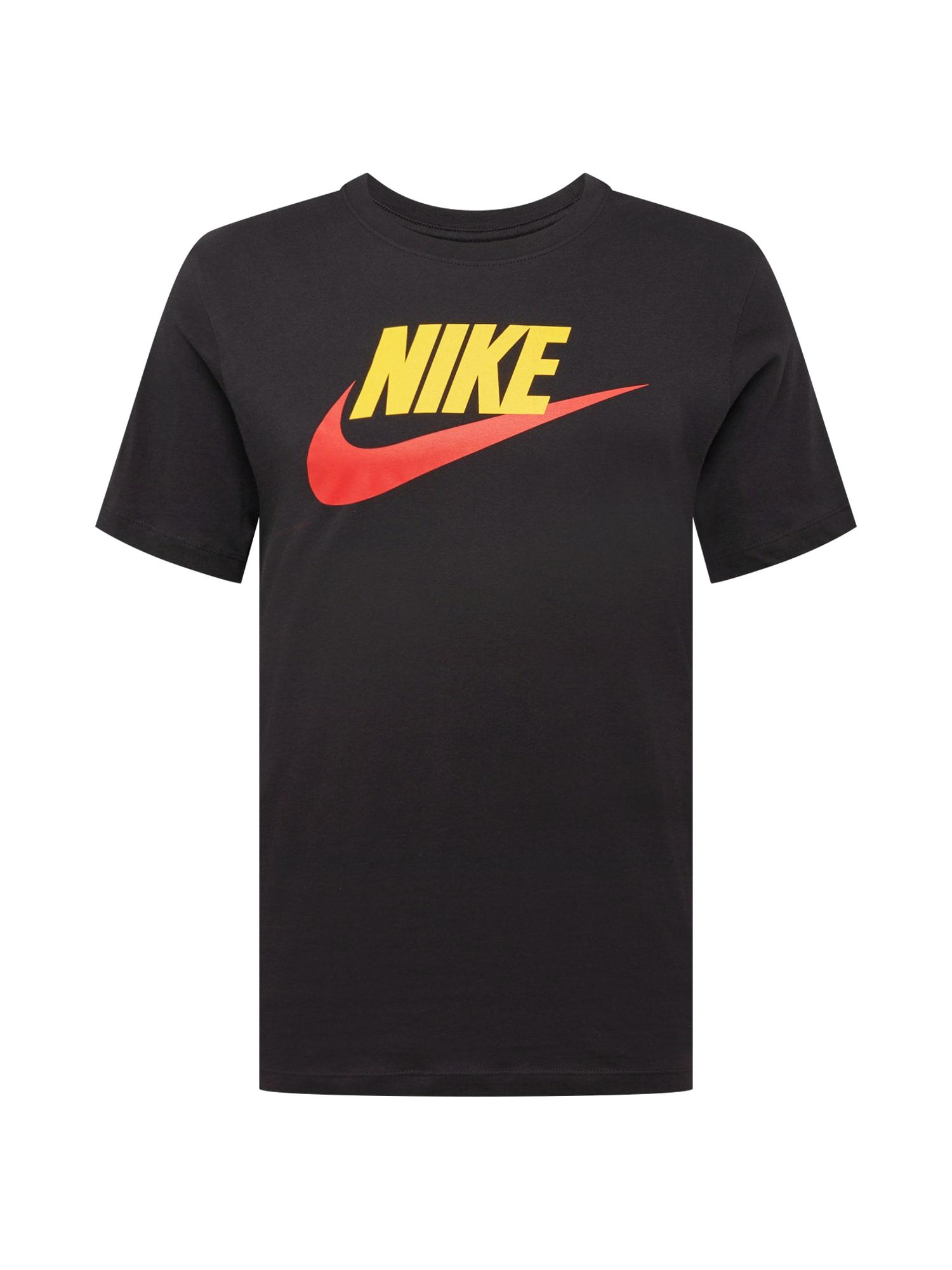 Tričko žlutá červená černá Nike Sportswear