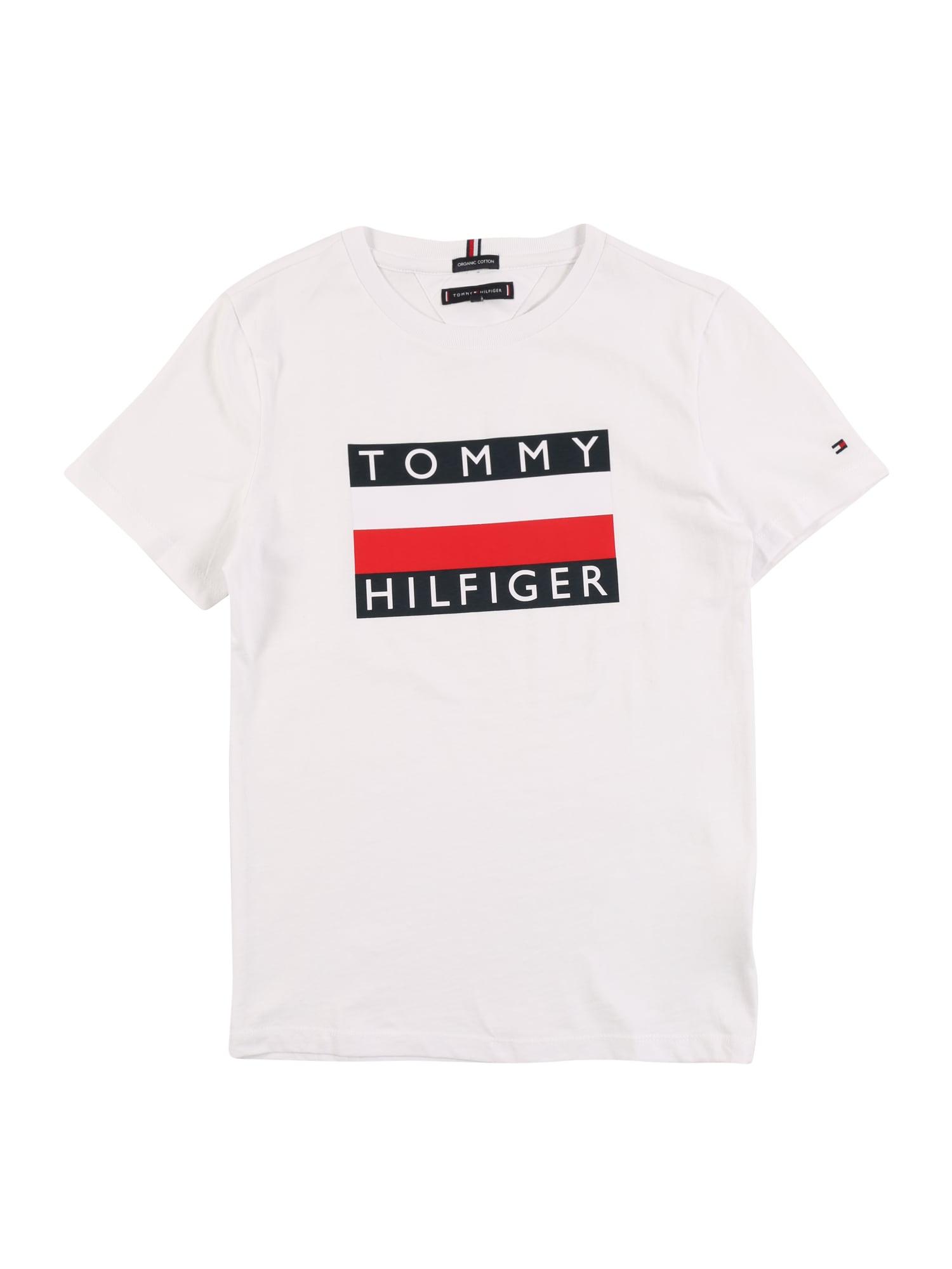 TOMMY HILFIGER Tričko  bílá