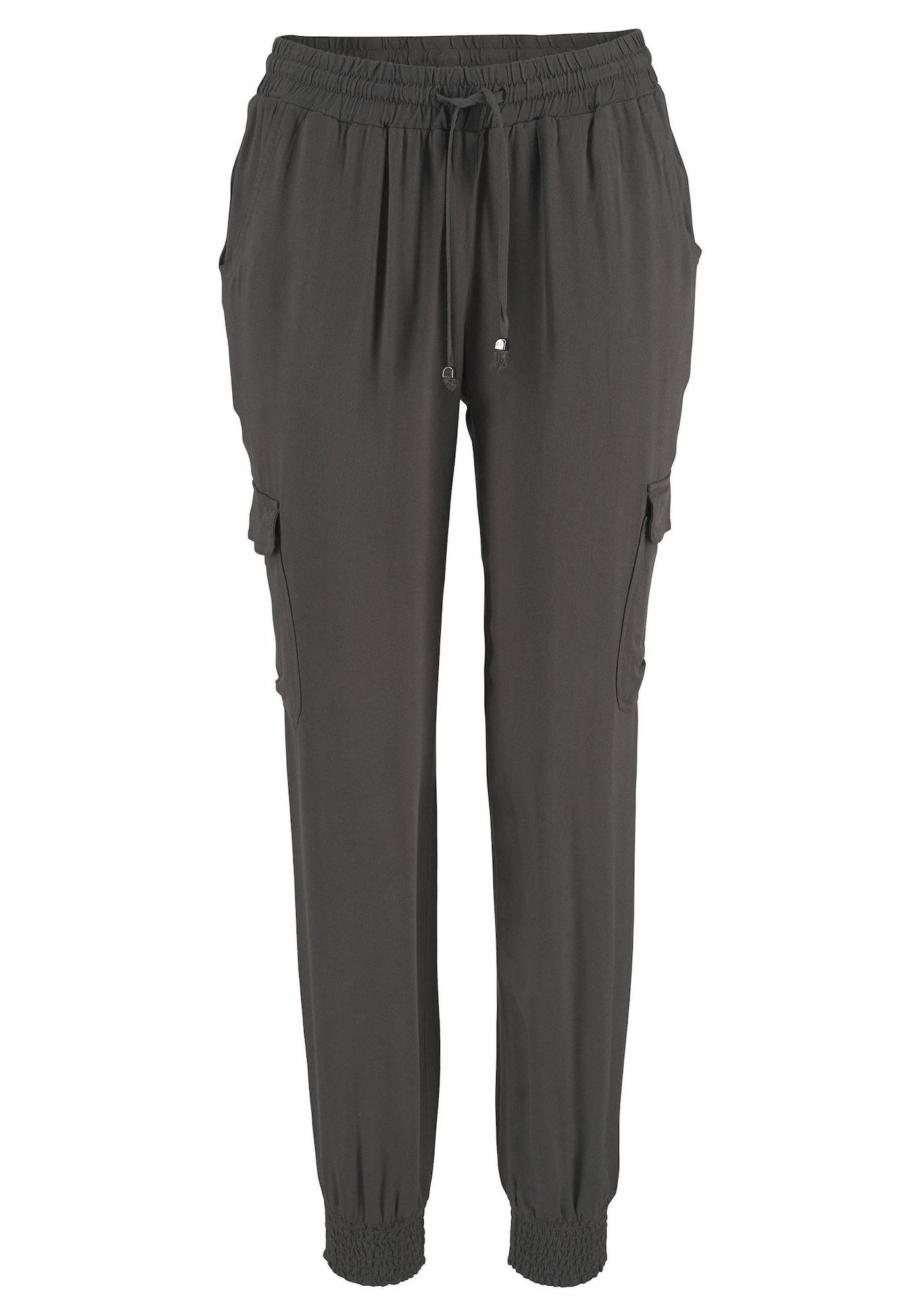 Kalhoty tmavě šedá LASCANA