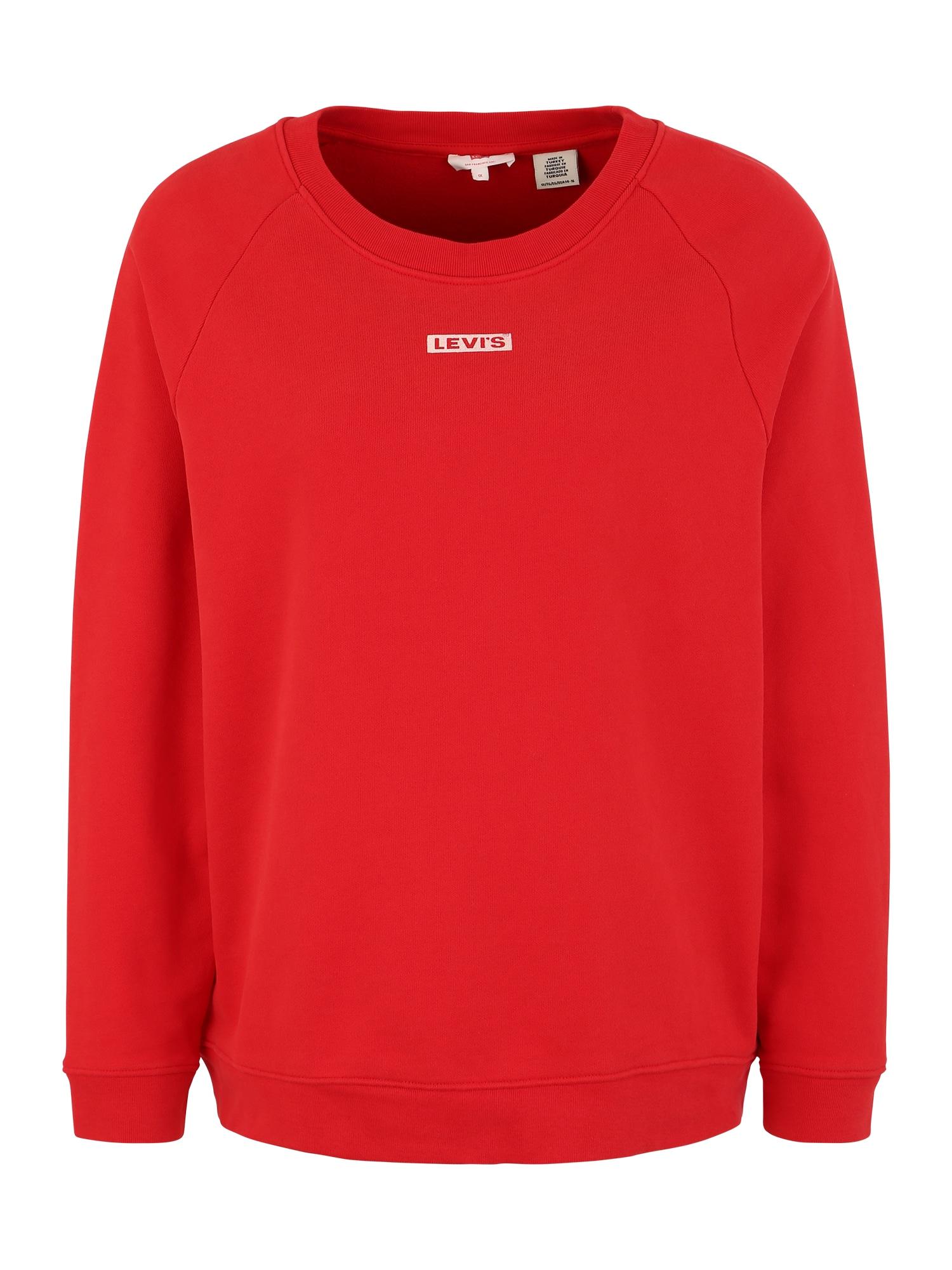 Levis® Plus Mikina RELAXED GRAPHIC červená Levi's® Plus
