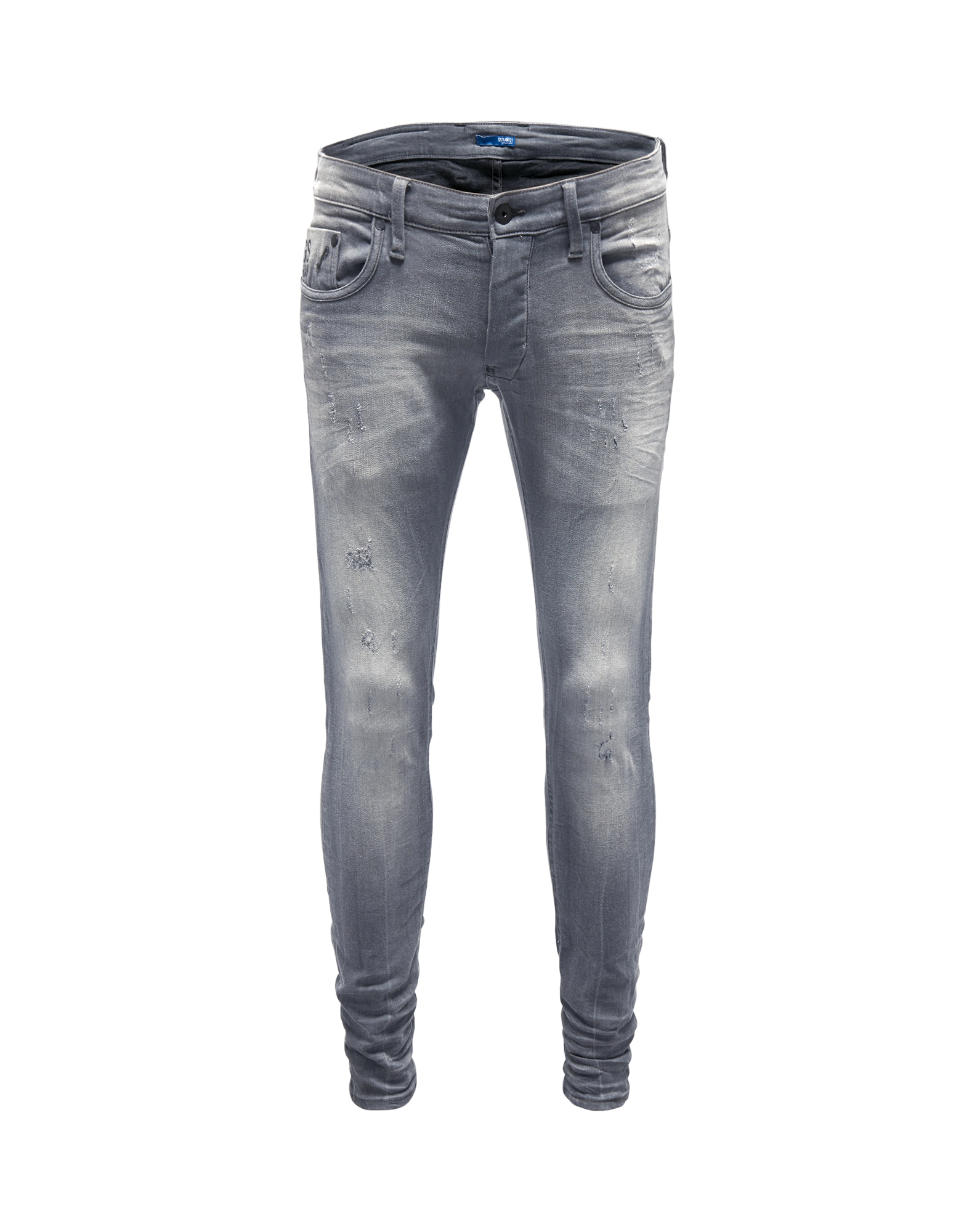 G-STAR RAW Heren Jeans Revend Super Slim grijs